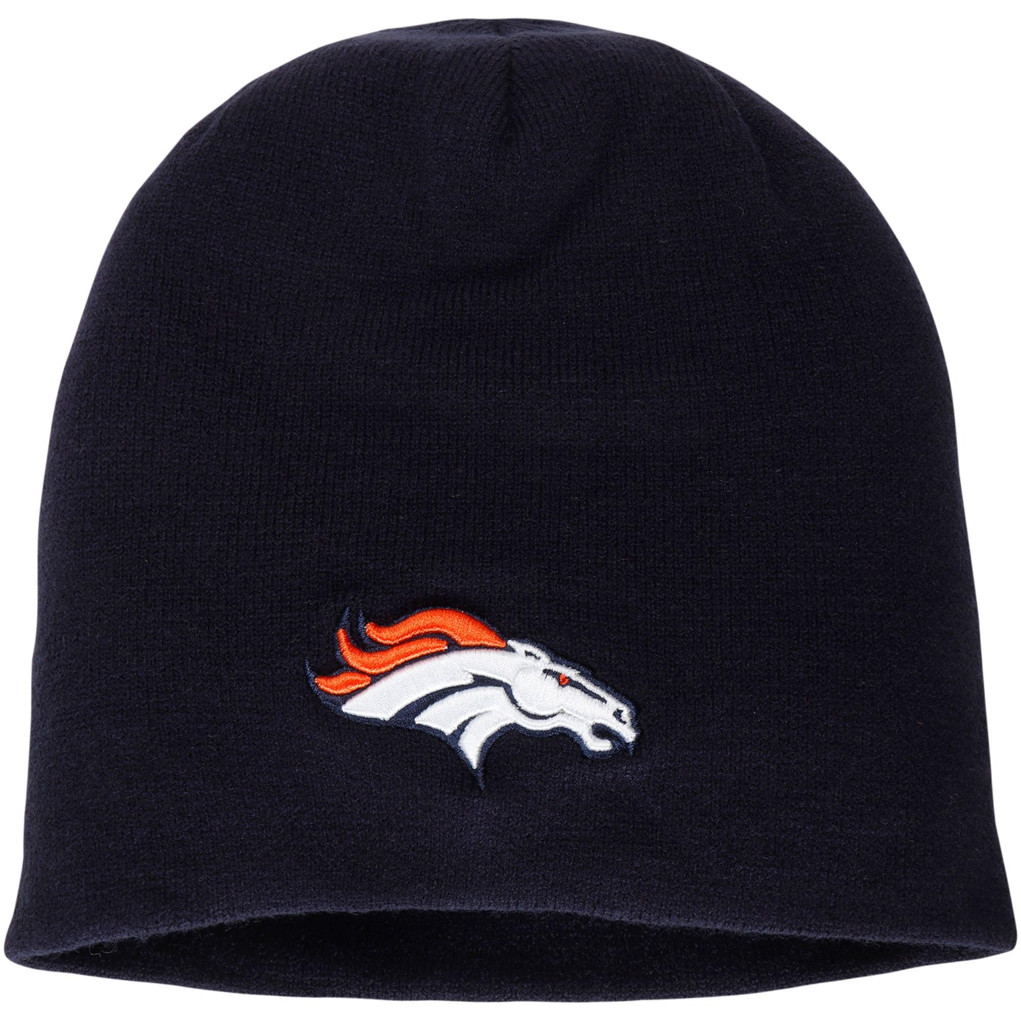 Denver Broncos NFL Pro Line by Fanatics Branded Core Uncuffed Knit Beanie - Navy