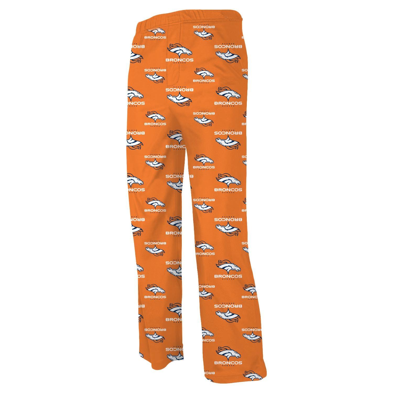 Denver Broncos Toddler Allover Logo Flannel Pajama Pants - Orange