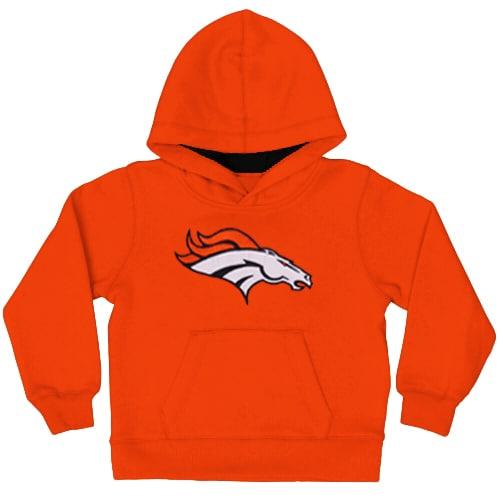 Denver Broncos Toddler Fan Gear Primary Logo Pullover Hoodie - Orange