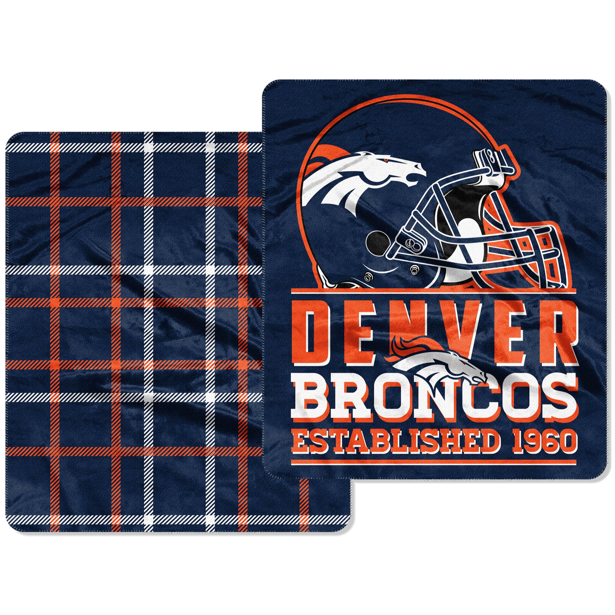 Denver Broncos The Northwest Company Home Field Cloud 60'' x 70'' Double-Sided Plush Throw Blanket
