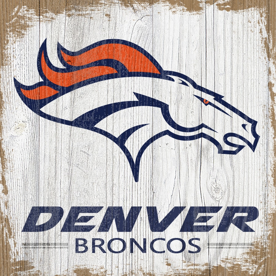 Denver Broncos 6'' x 6'' Team Logo Block