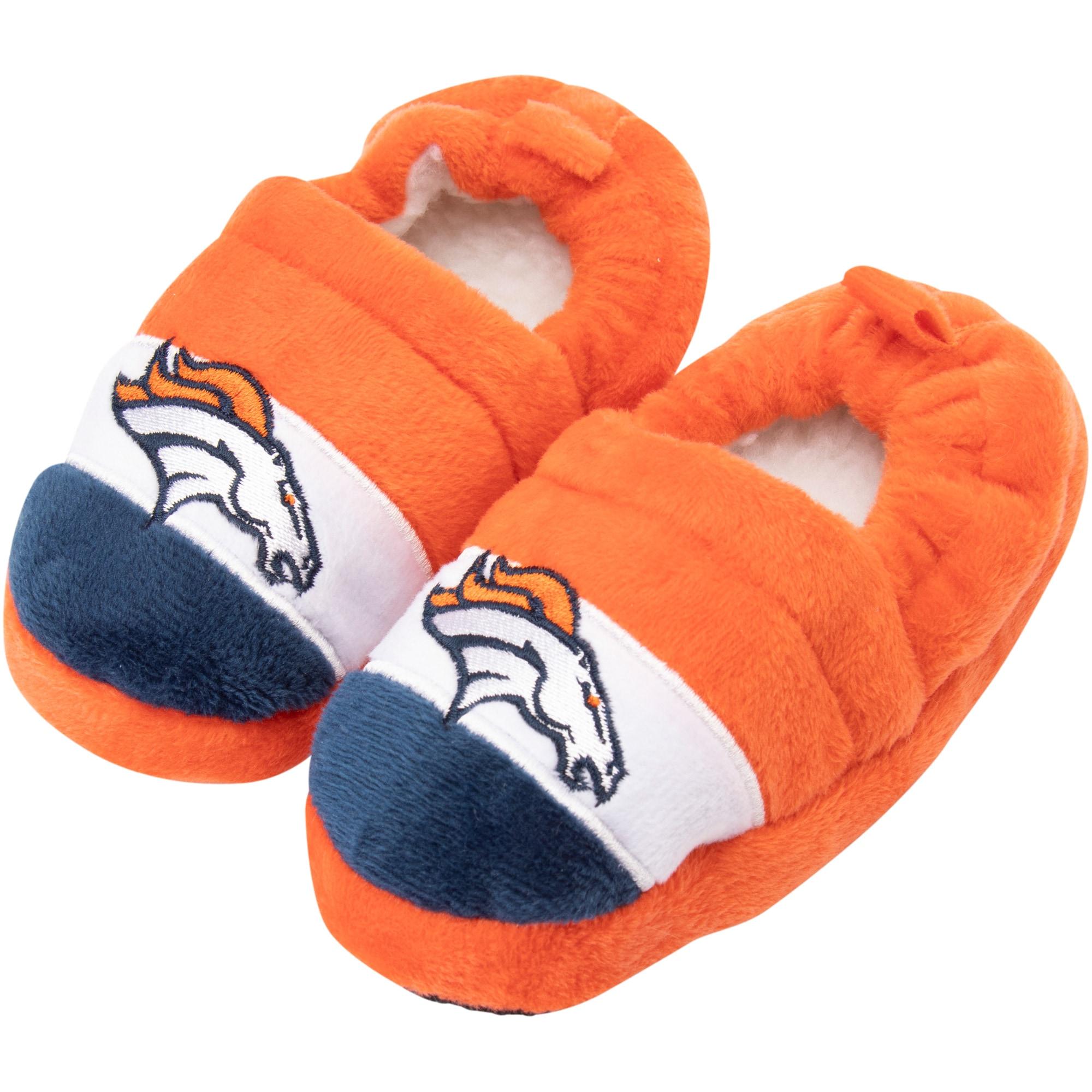 Denver Broncos Toddler Color Block Close Back Slippers
