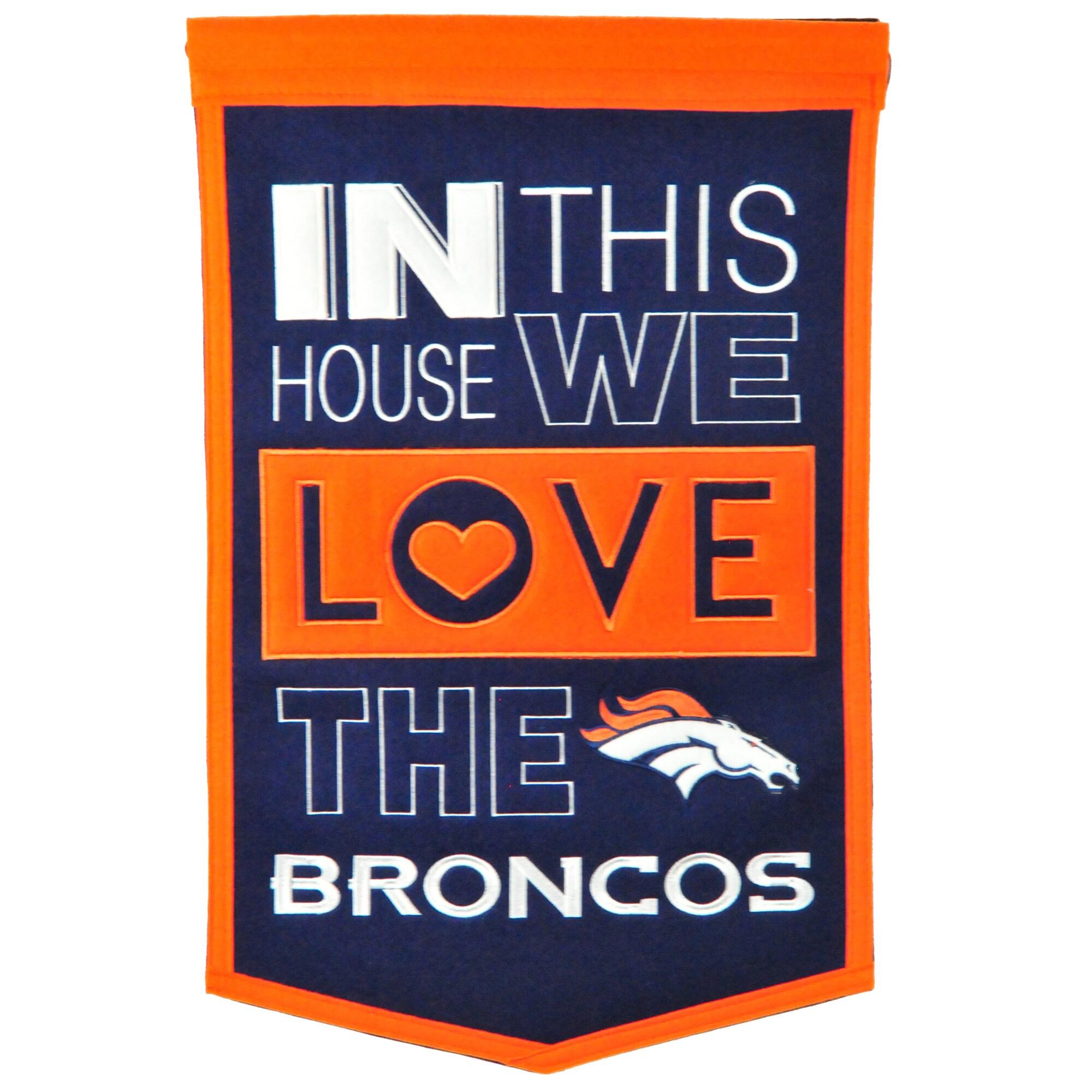 Denver Broncos 15'' x 24'' Home Banner