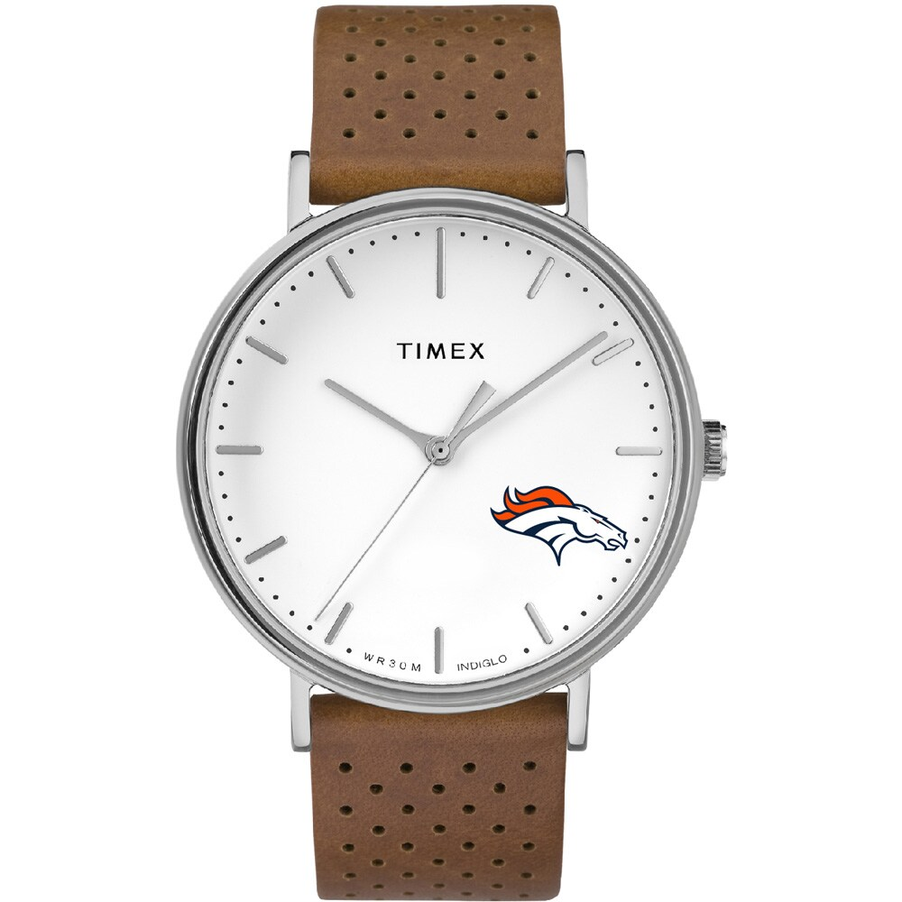 Denver Broncos Timex Bright Whites Tribute Collection Watch