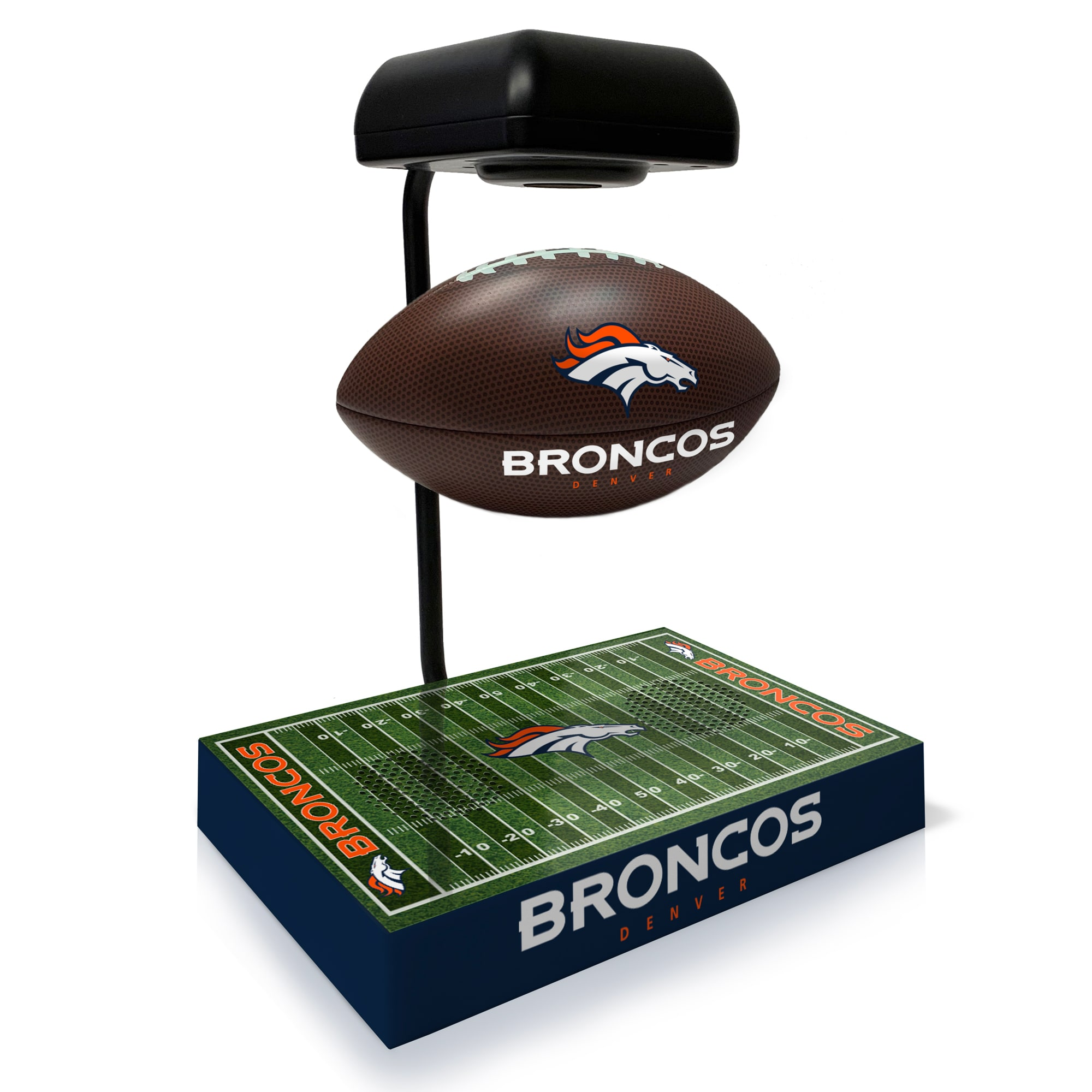 Denver Broncos Hover Football With Bluetooth Speaker