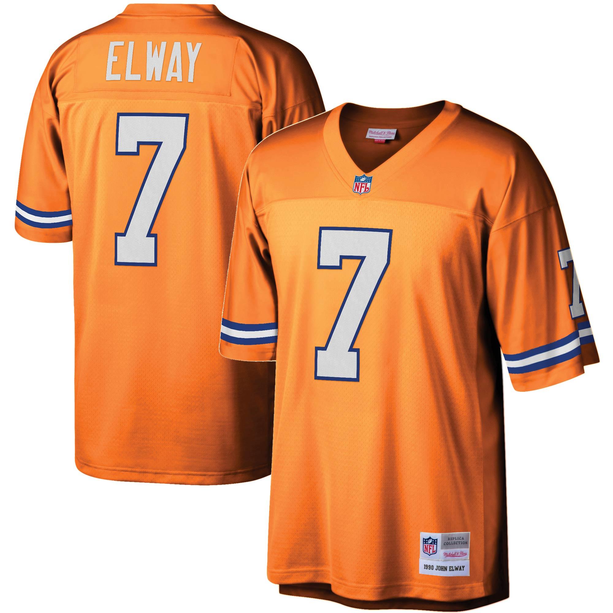 John Elway Denver Broncos Mitchell & Ness Legacy Replica Jersey - Orange