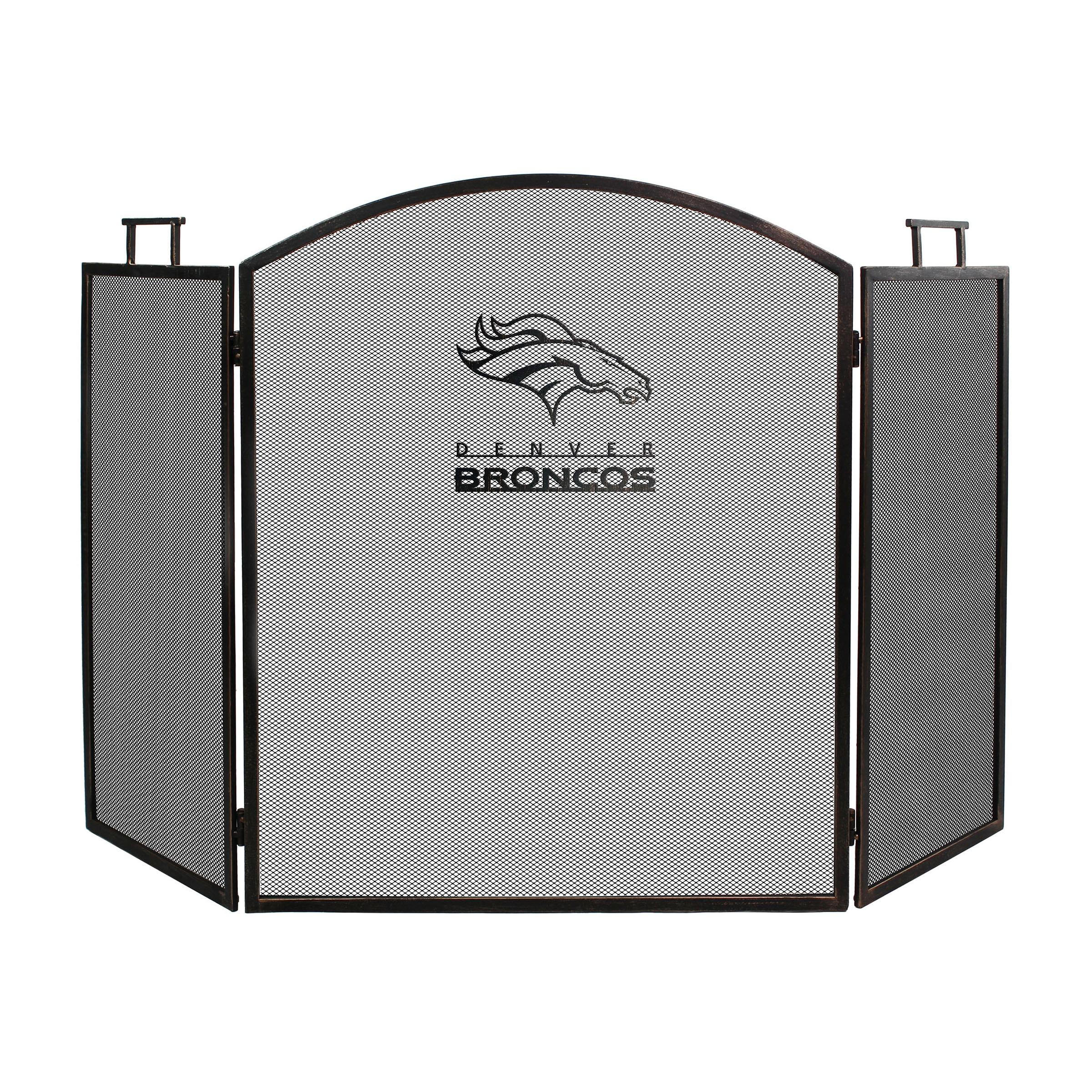 Denver Broncos Imperial Fireplace Screen - Brown