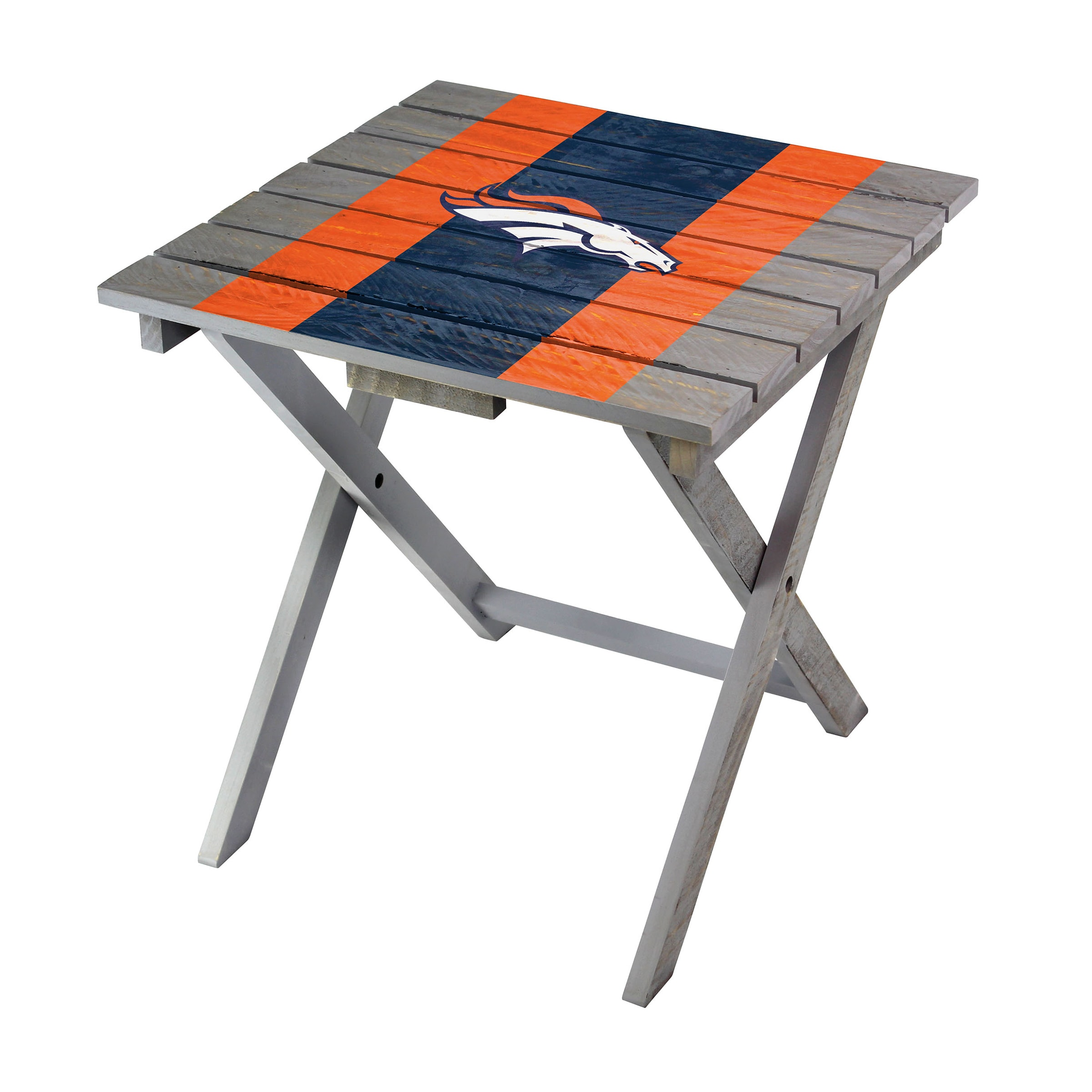 Denver Broncos Imperial Folding Adirondack Table - Gray