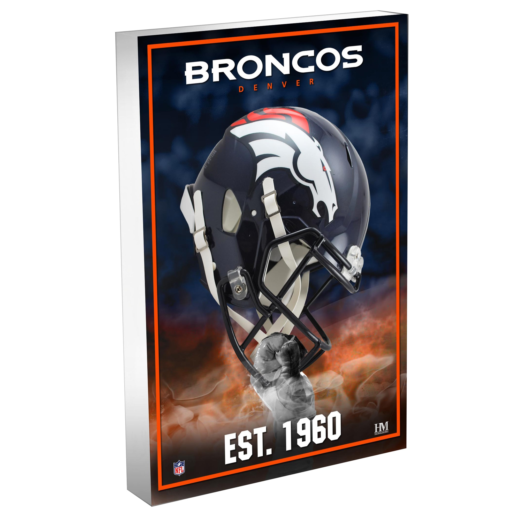 Denver Broncos Highland Mint 4'' x 6'' Team Pride 3D Acrylic BlocKart