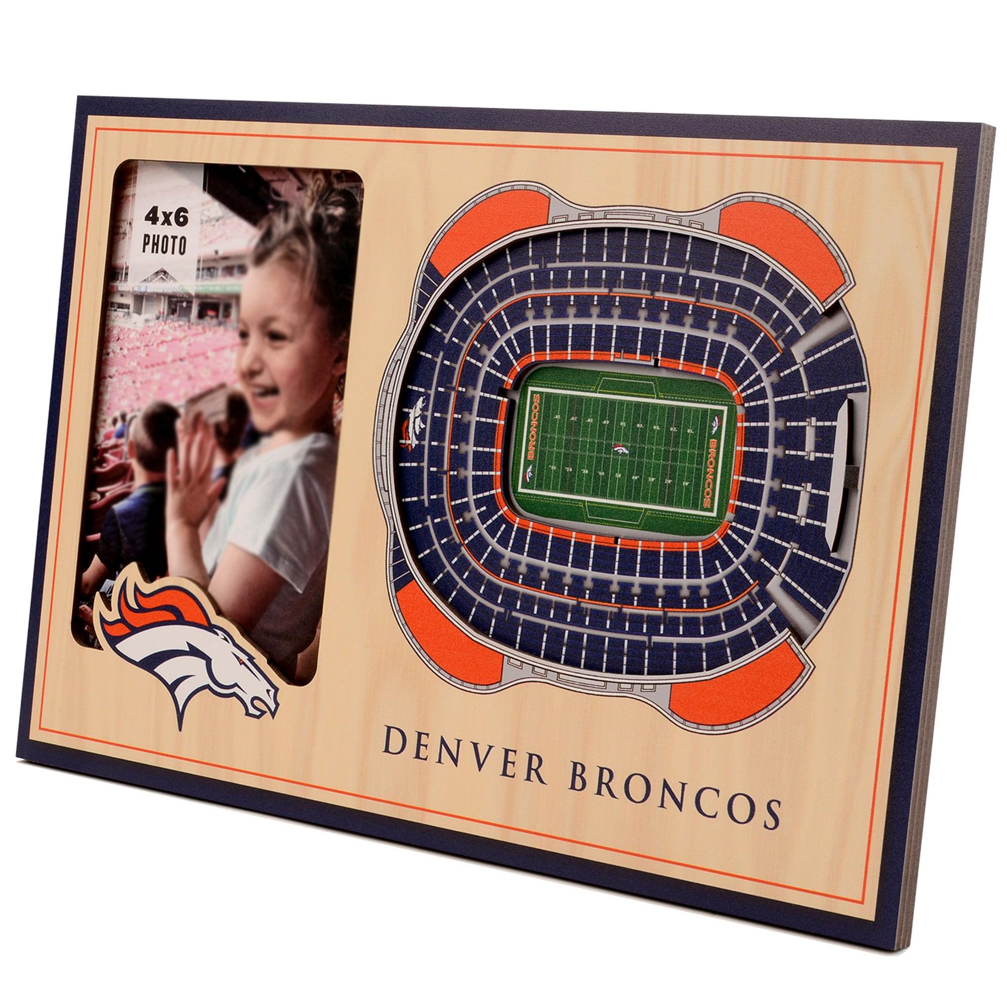 Denver Broncos 3D StadiumViews Picture Frame - Brown
