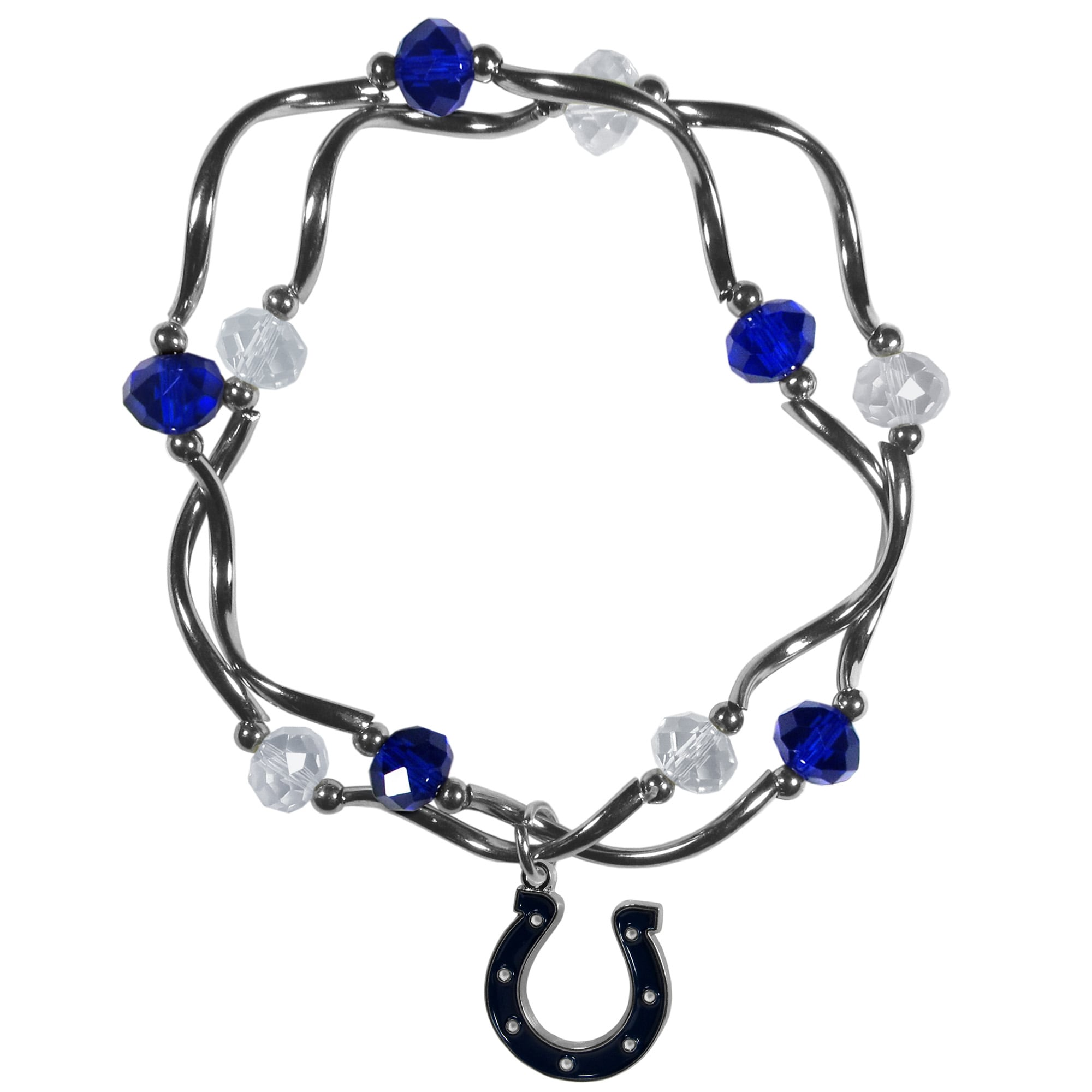 Indianapolis Colts Women's Bead Stretch Bracelet