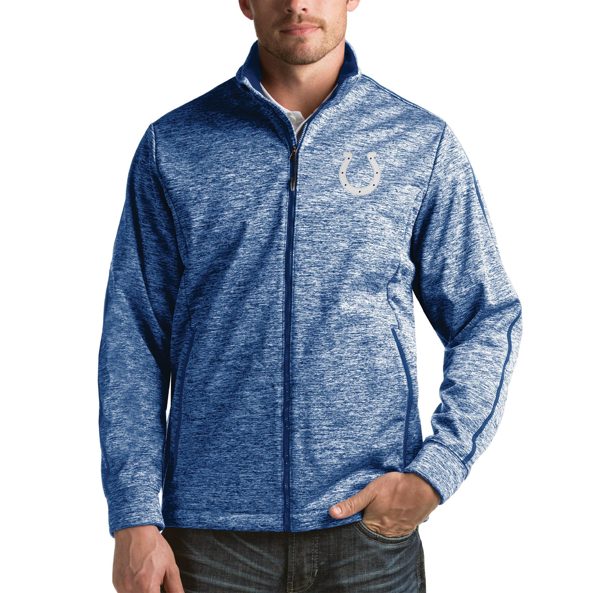 Indianapolis Colts Antigua Full-Zip Golf Jacket - Heathered Royal