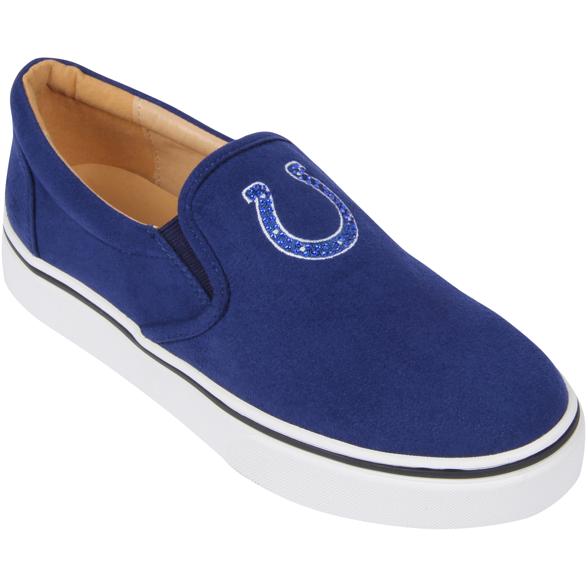Indianapolis Colts Cuce Women's Suede Slip On Shoe - Royal