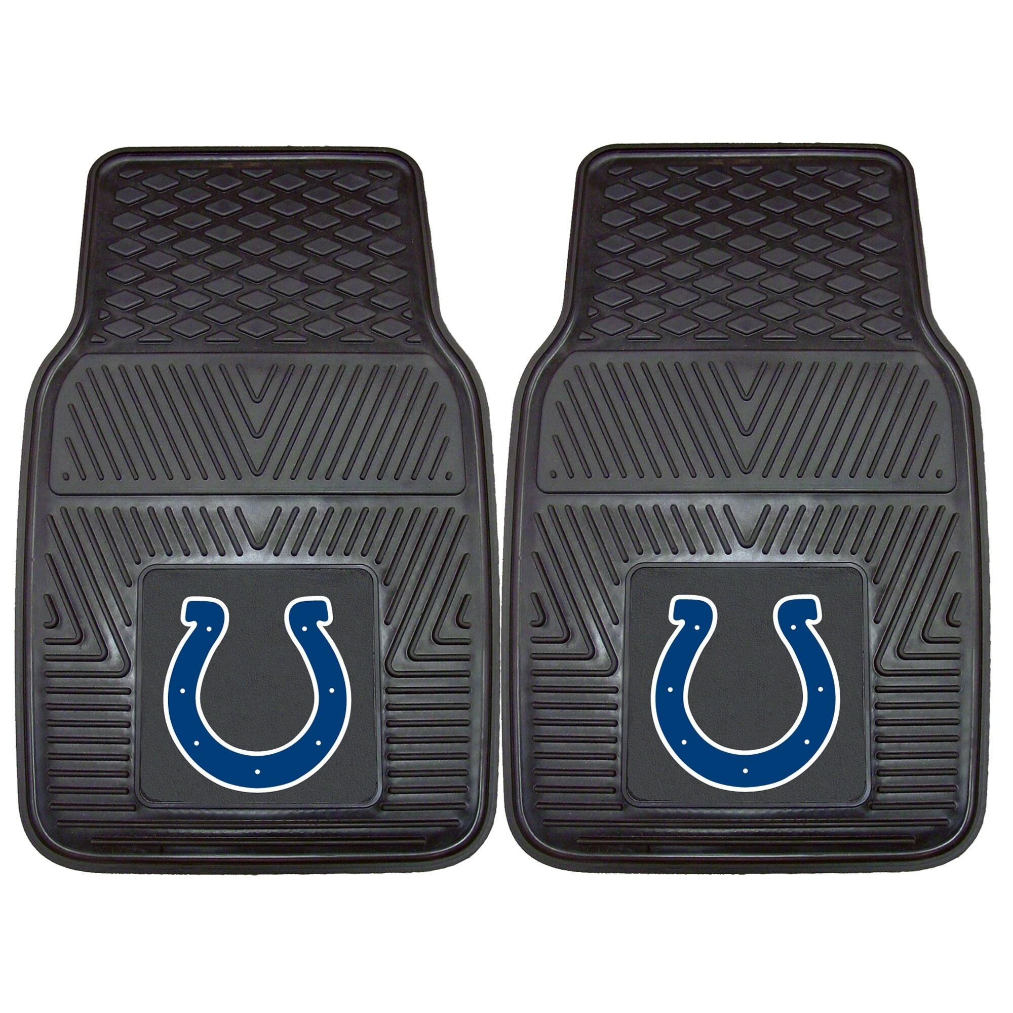 "Indianapolis Colts 27"" x 18"" 2-Pack Vinyl Car Mat Set"