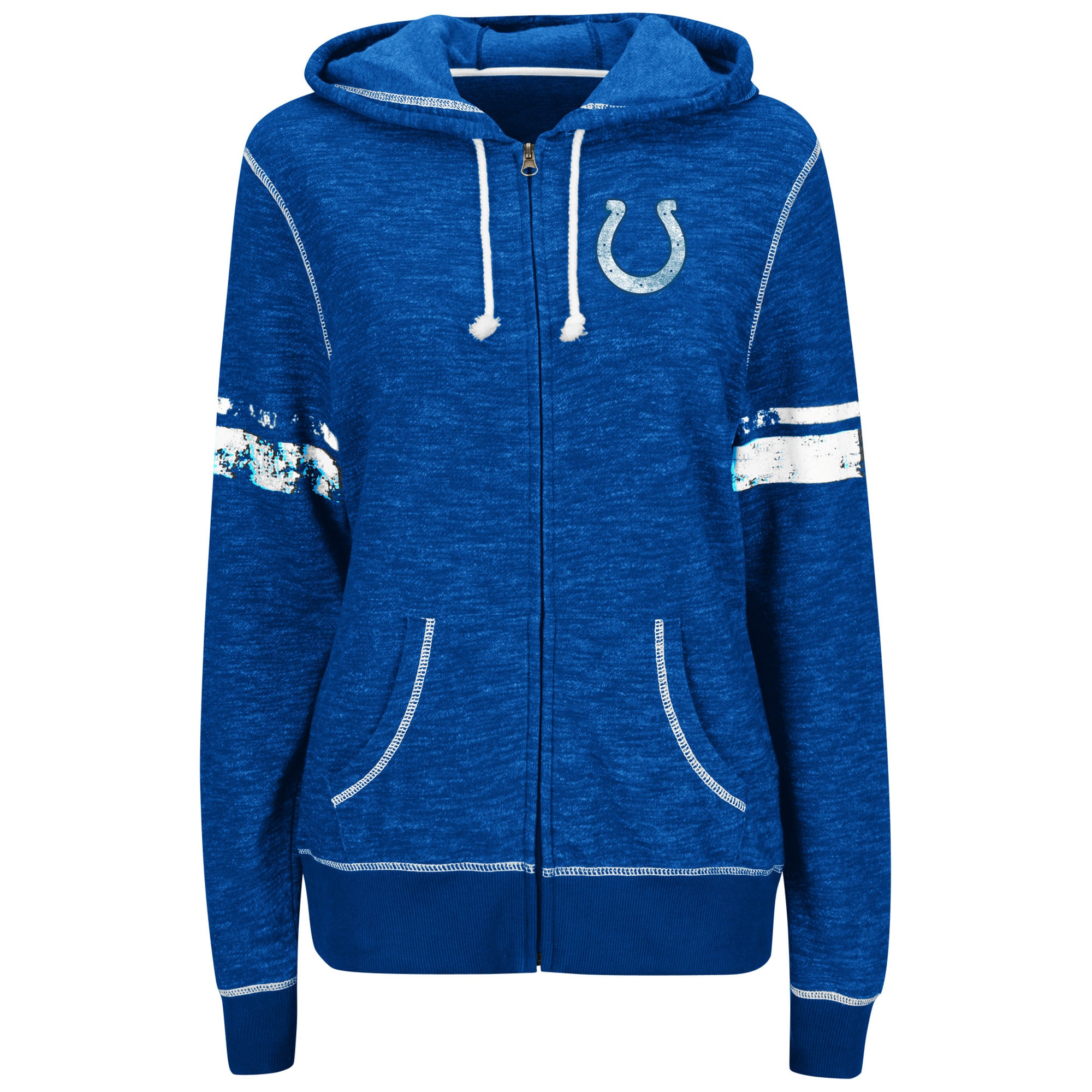 Indianapolis Colts Majestic Women's Athletic Tradition Full-Zip Hoodie - Royal