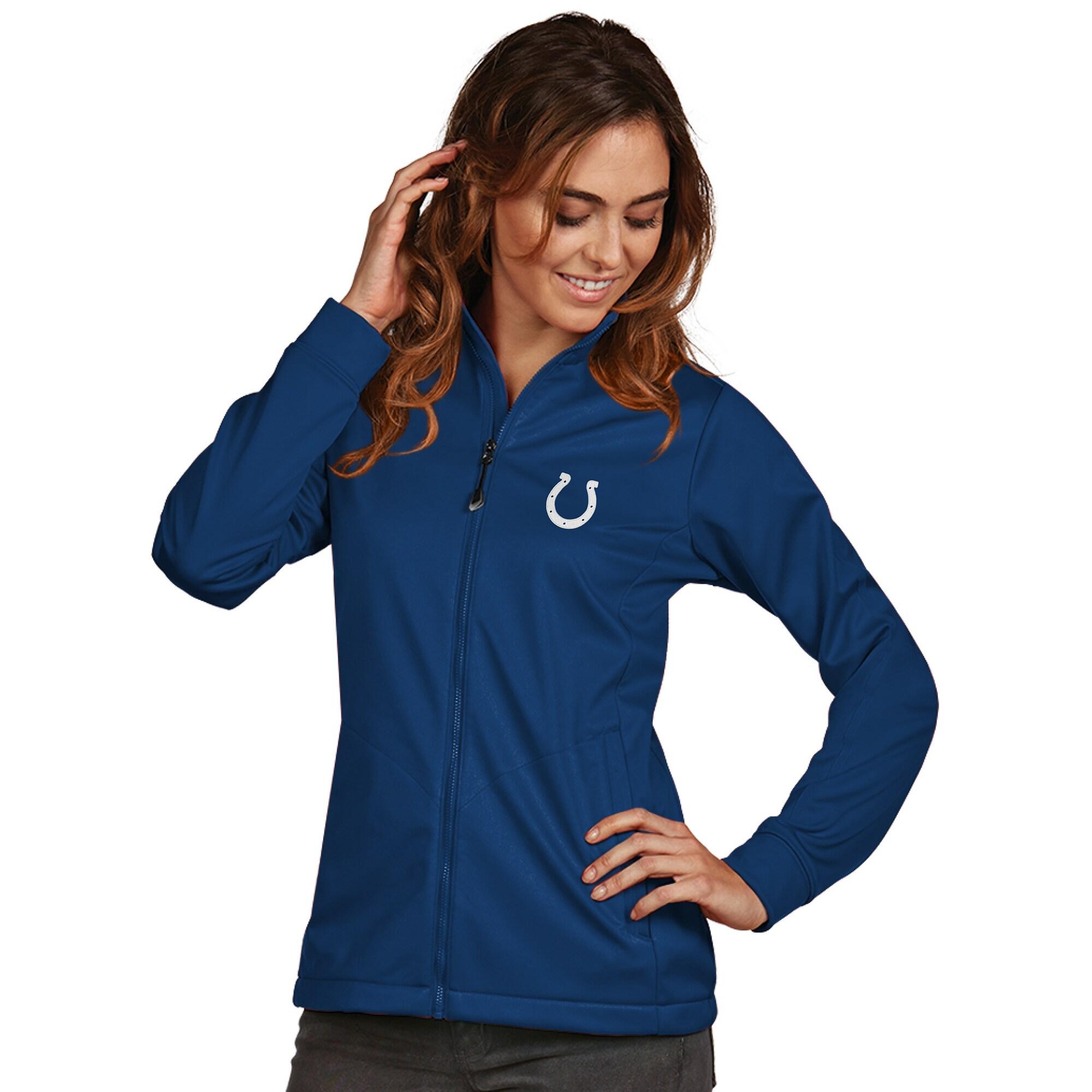 Indianapolis Colts Women's Antigua Full-Zip Golf Jacket - Royal