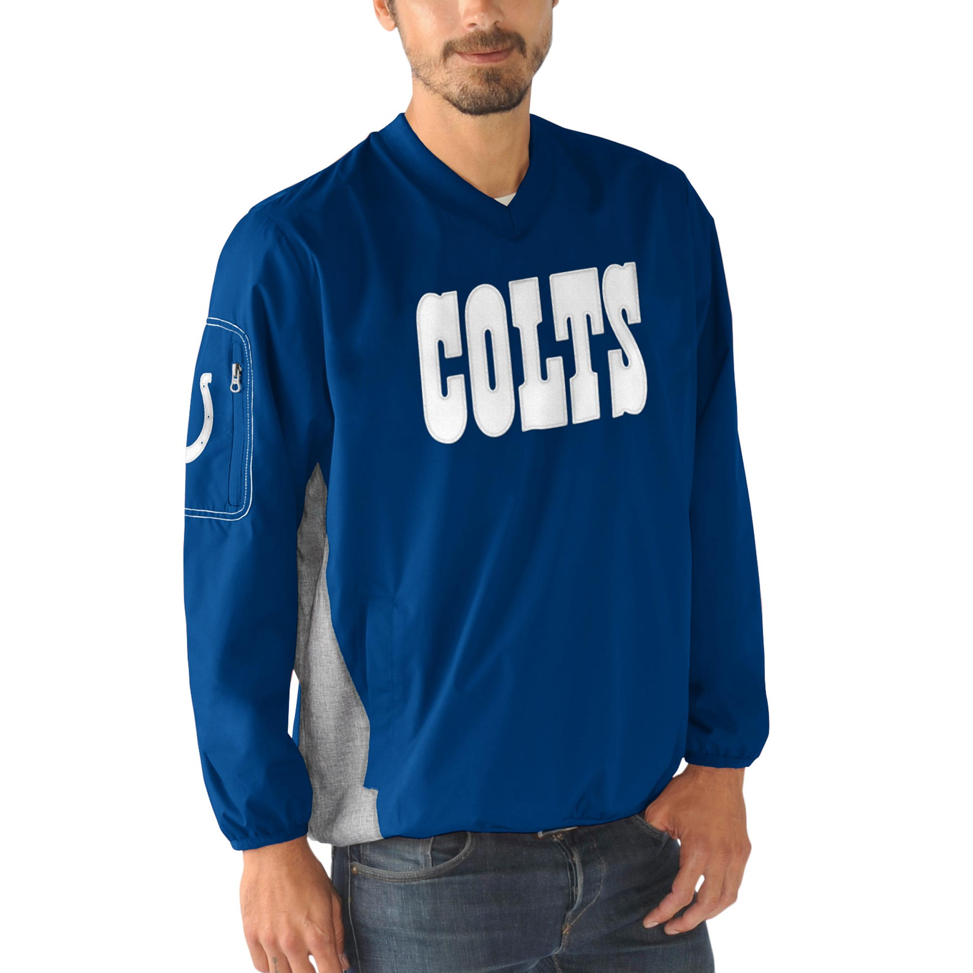 Indianapolis Colts G-III Sports by Carl Banks Gridiron V-Neck Pullover Sweatshirt - Royal