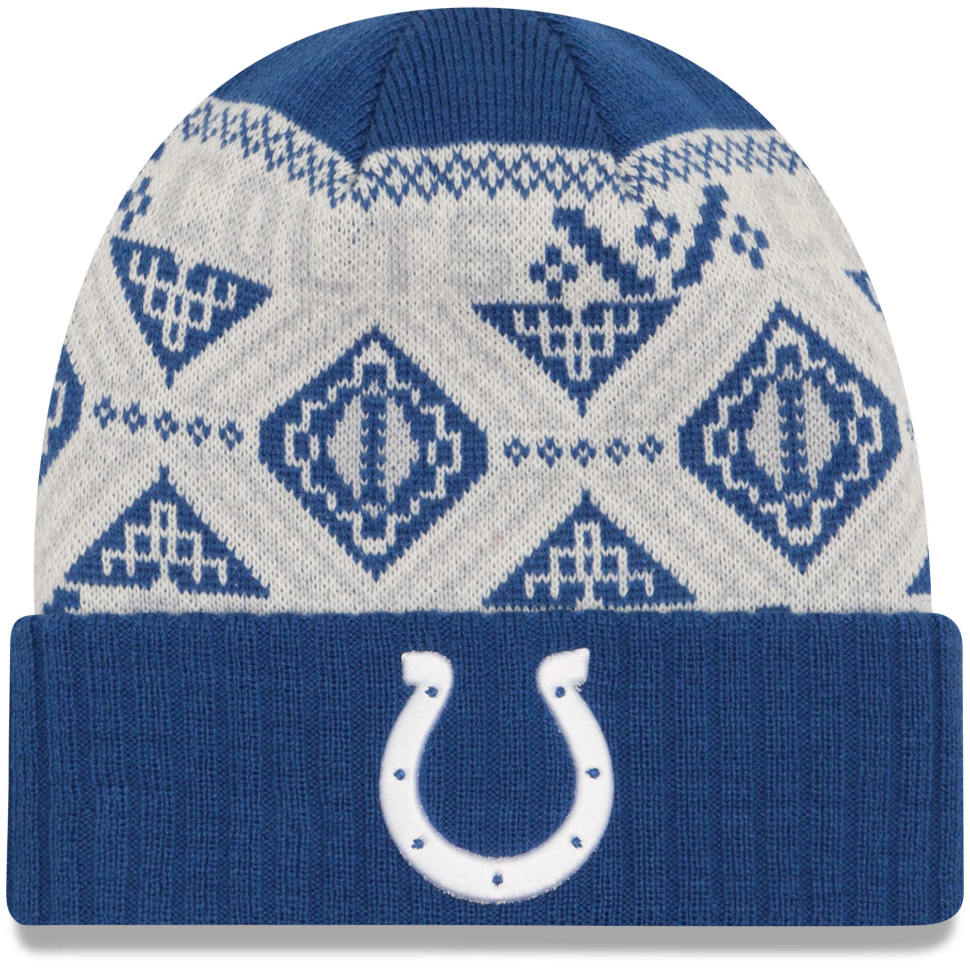 Indianapolis Colts New Era Cozy Cuffed Knit Hat - Royal