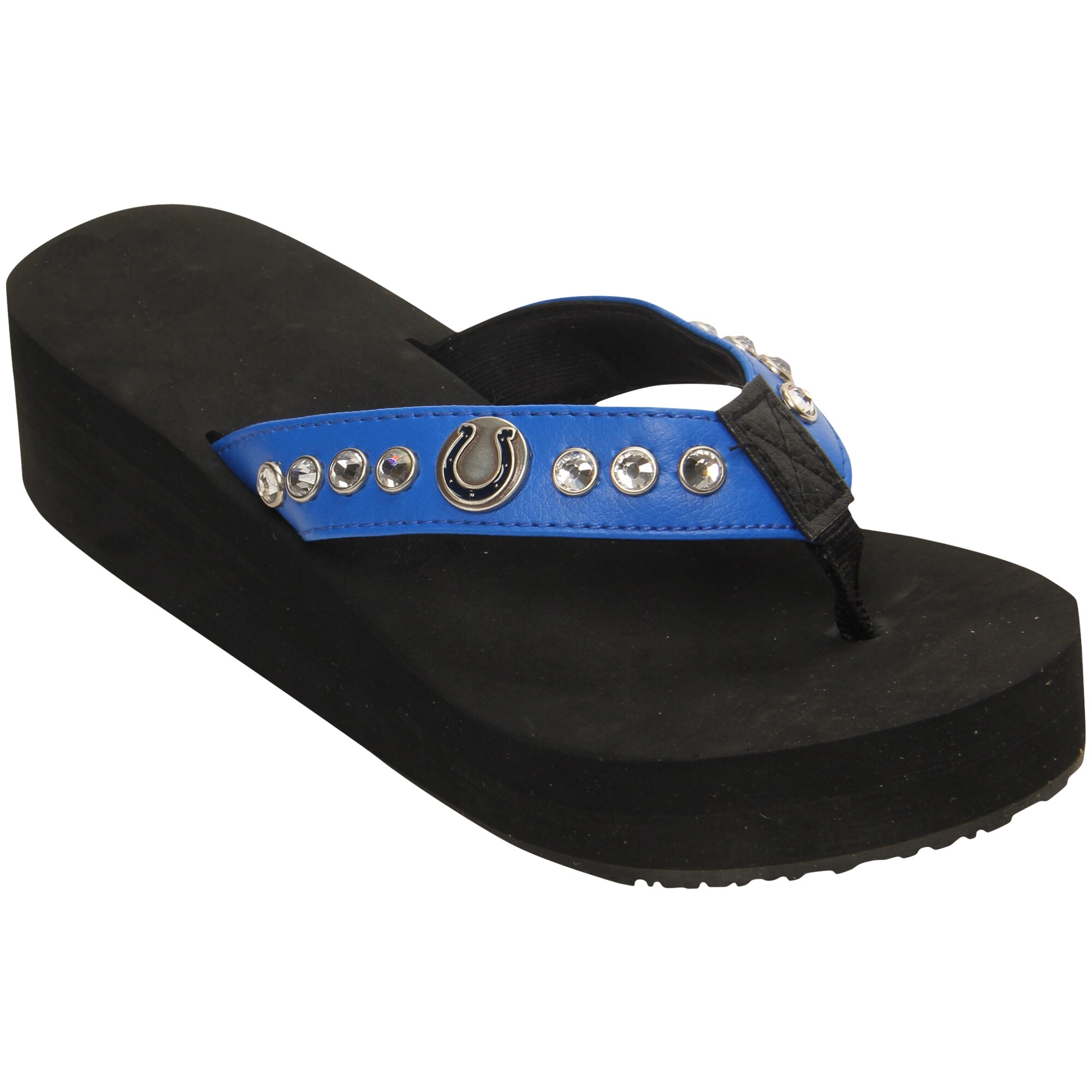 Indianapolis Colts Women's Wedge Flip Flops -