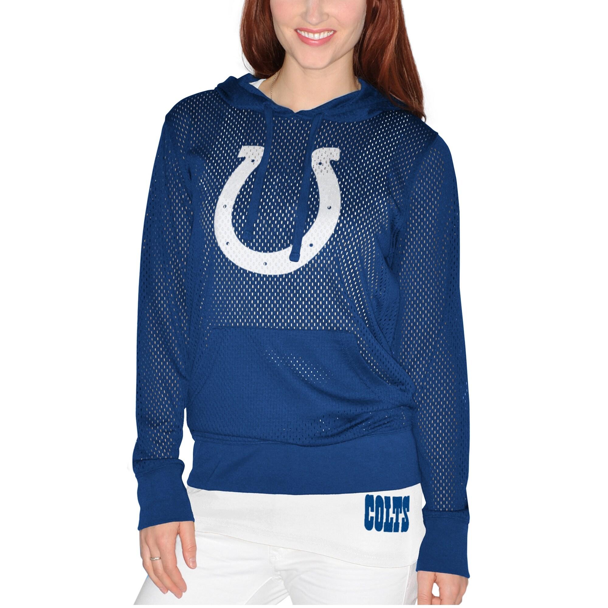 Indianapolis Colts Women's Holey Hoodie T-Shirt & Tank Top Set - Royal
