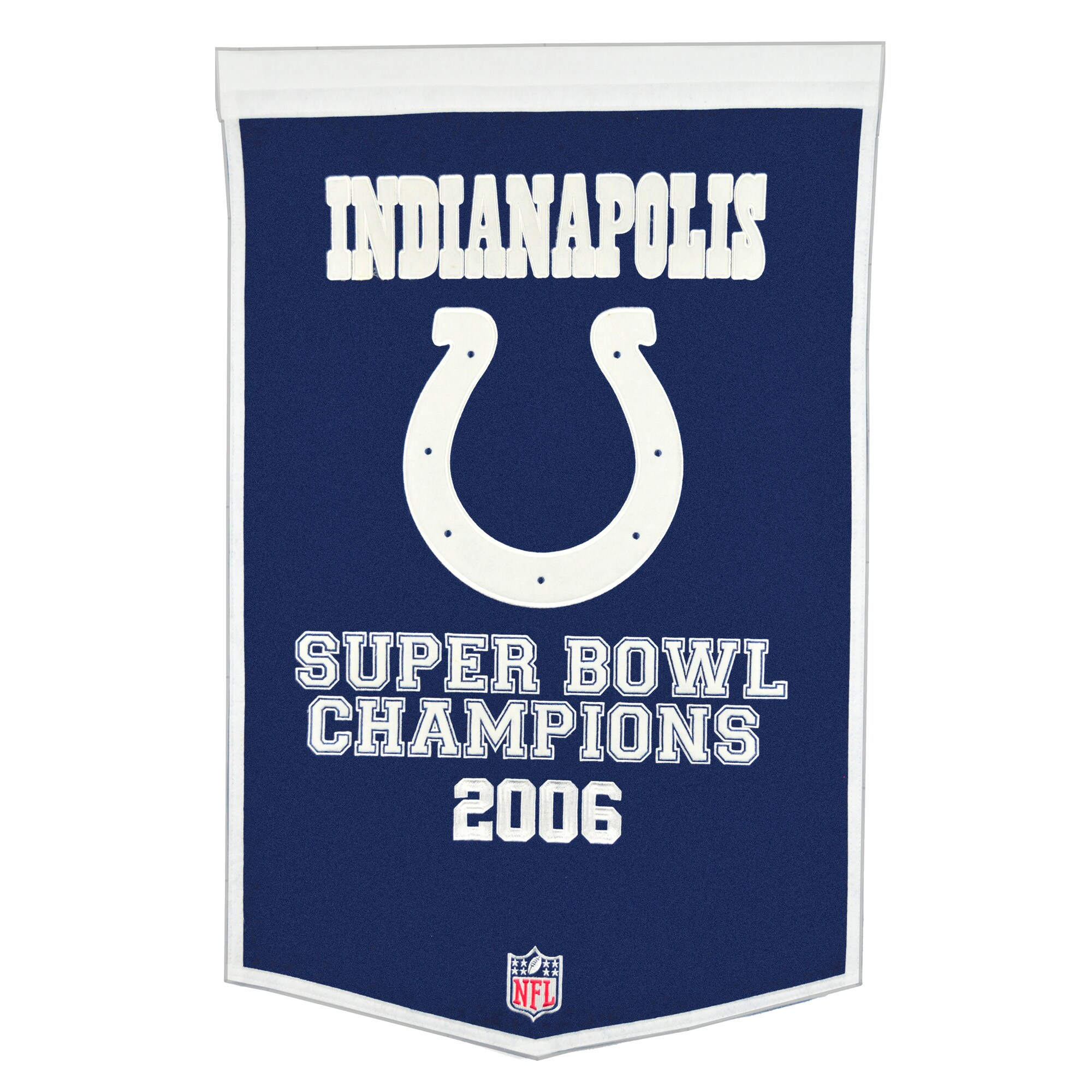 """Indianapolis Colts 24"""" x 38"""" Wool Dynasty Banner - Royal Blue/White"""