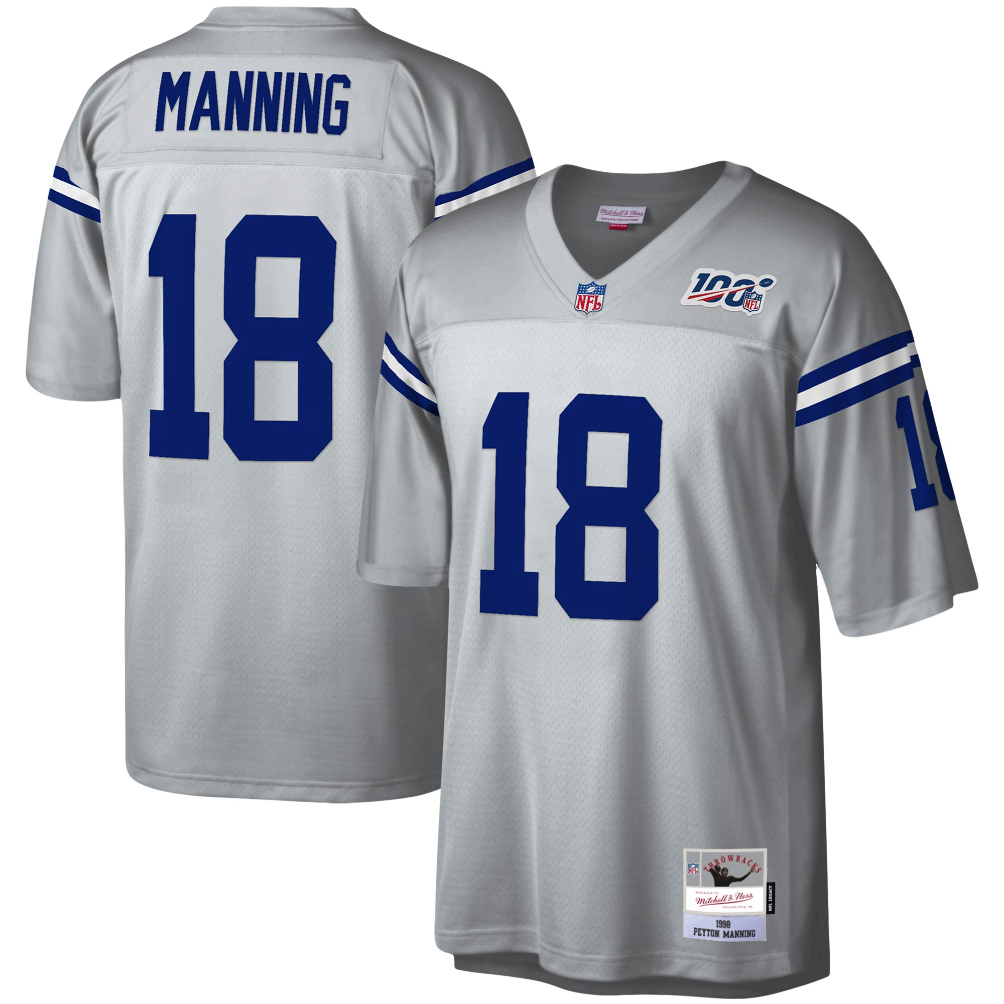 Peyton Manning Indianapolis Colts Mitchell & Ness NFL 100 Retired Player Legacy Jersey - Platinum