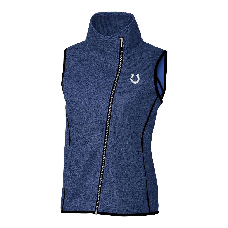 Indianapolis Colts Cutter & Buck Women's Mainsail Full-Zip Vest - Blue