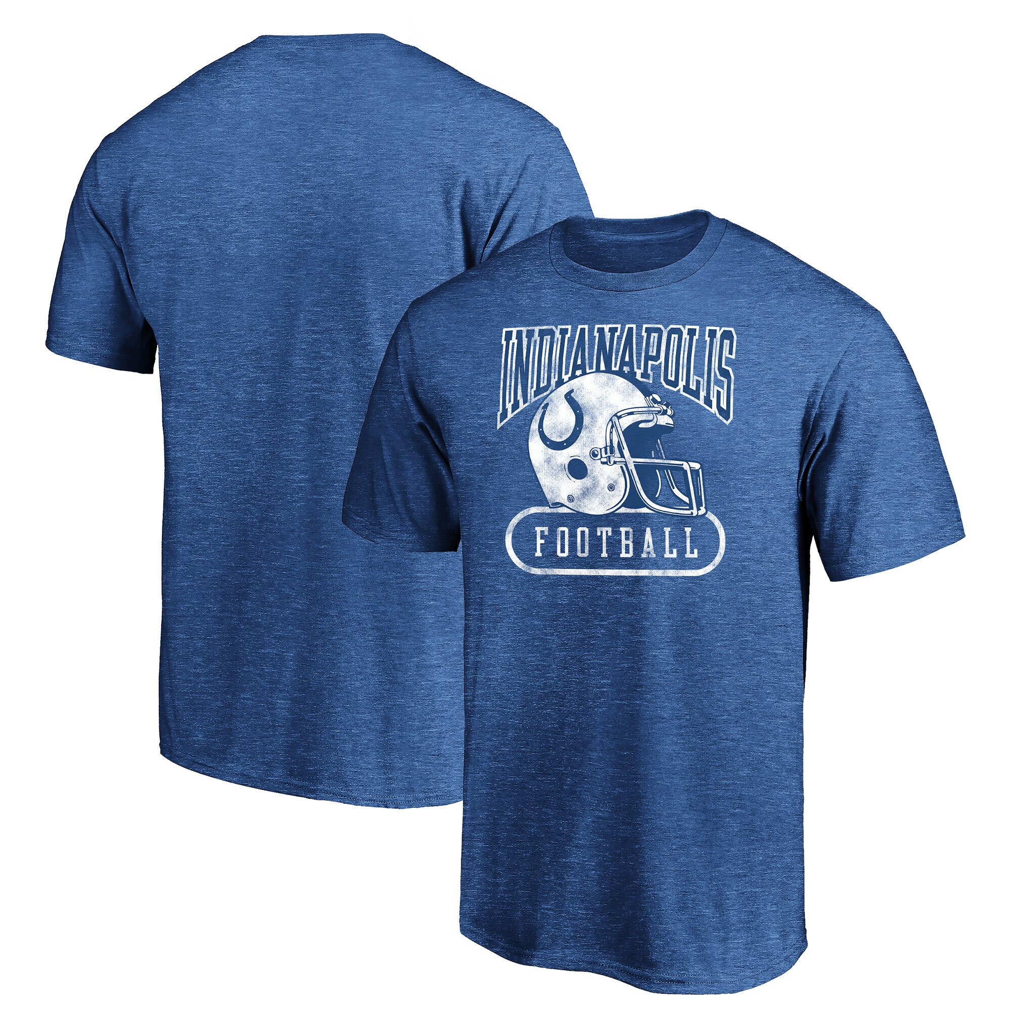 Indianapolis Colts Majestic True Classics Pro Club Throwback Tri-Blend T-Shirt - Royal