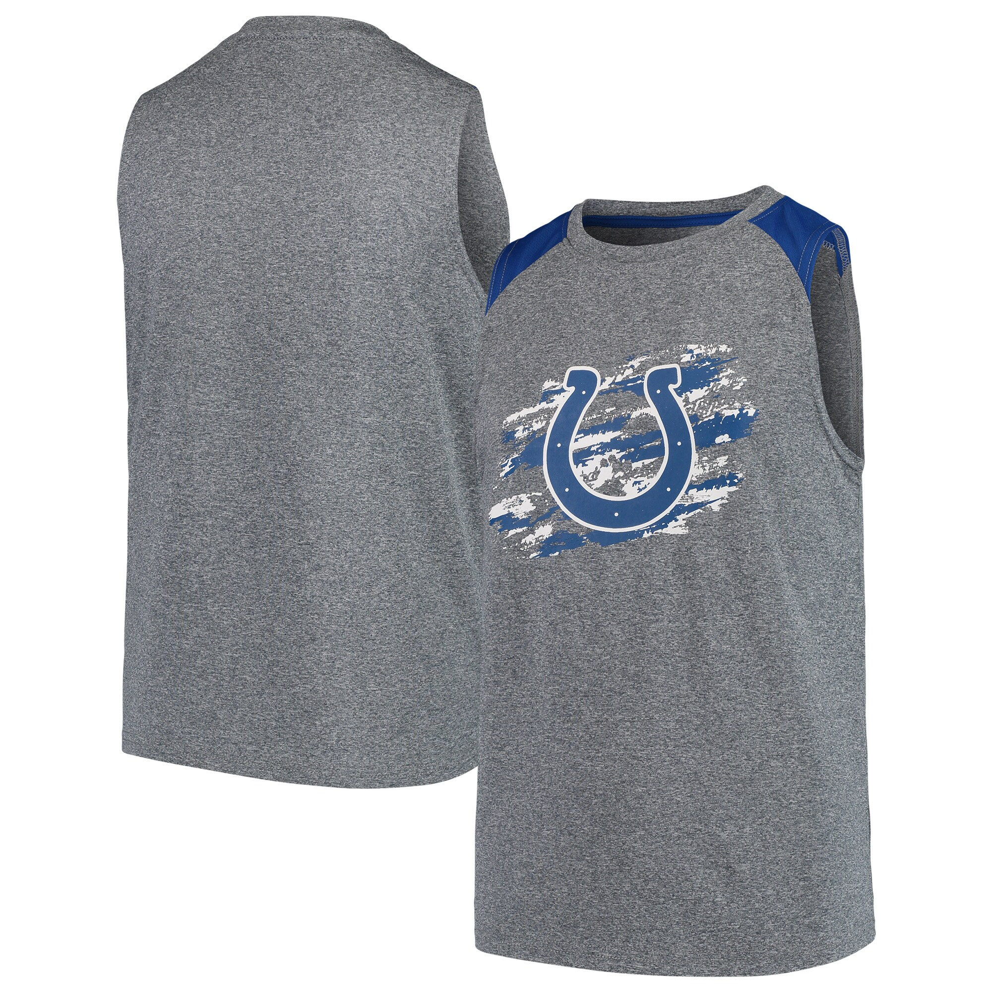 Indianapolis Colts NFL Pro Line by Fanatics Branded Youth True Colors Sleeveless T-Shirt - Heathered Gray