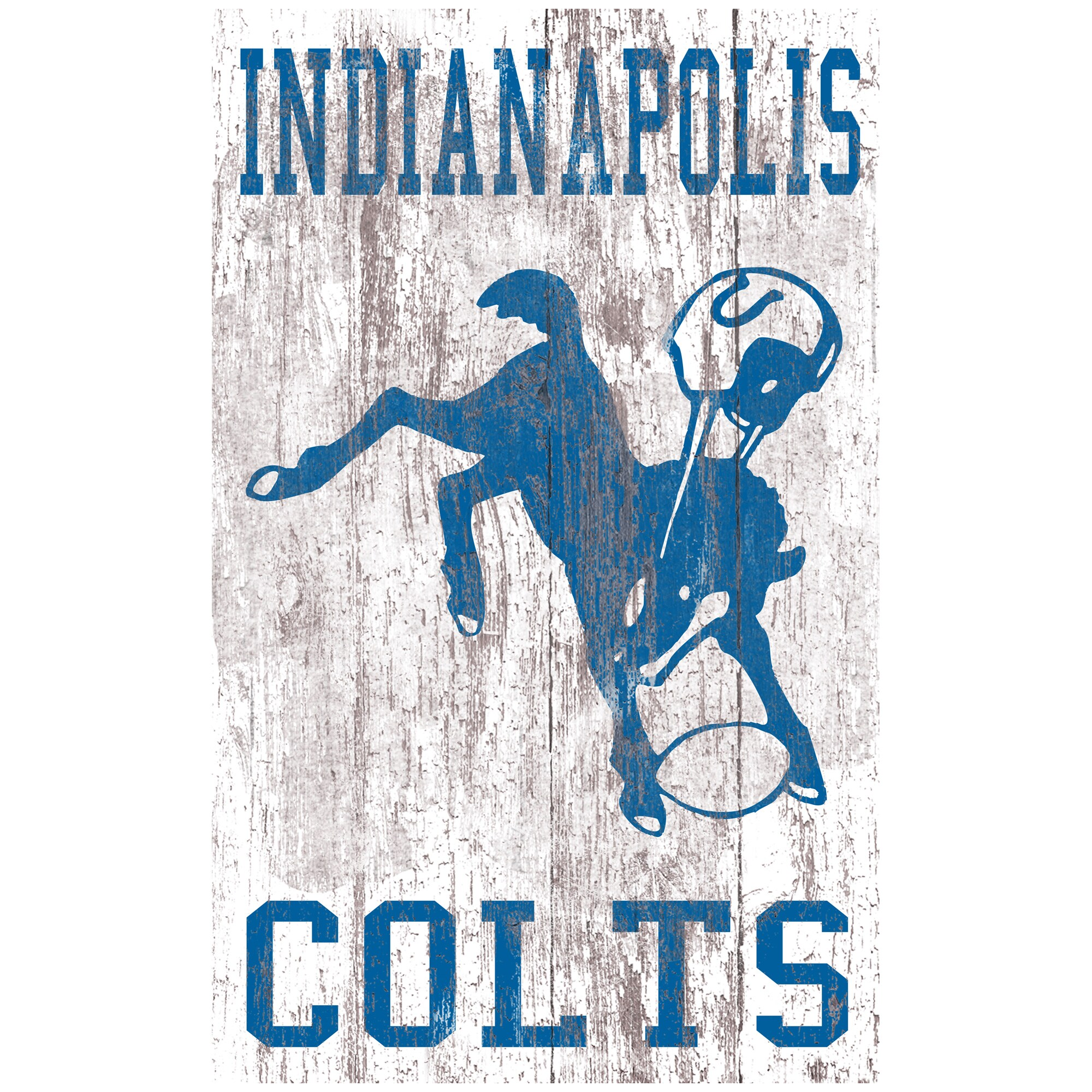 Indianapolis Colts 11'' x 19'' Heritage Distressed Logo Sign