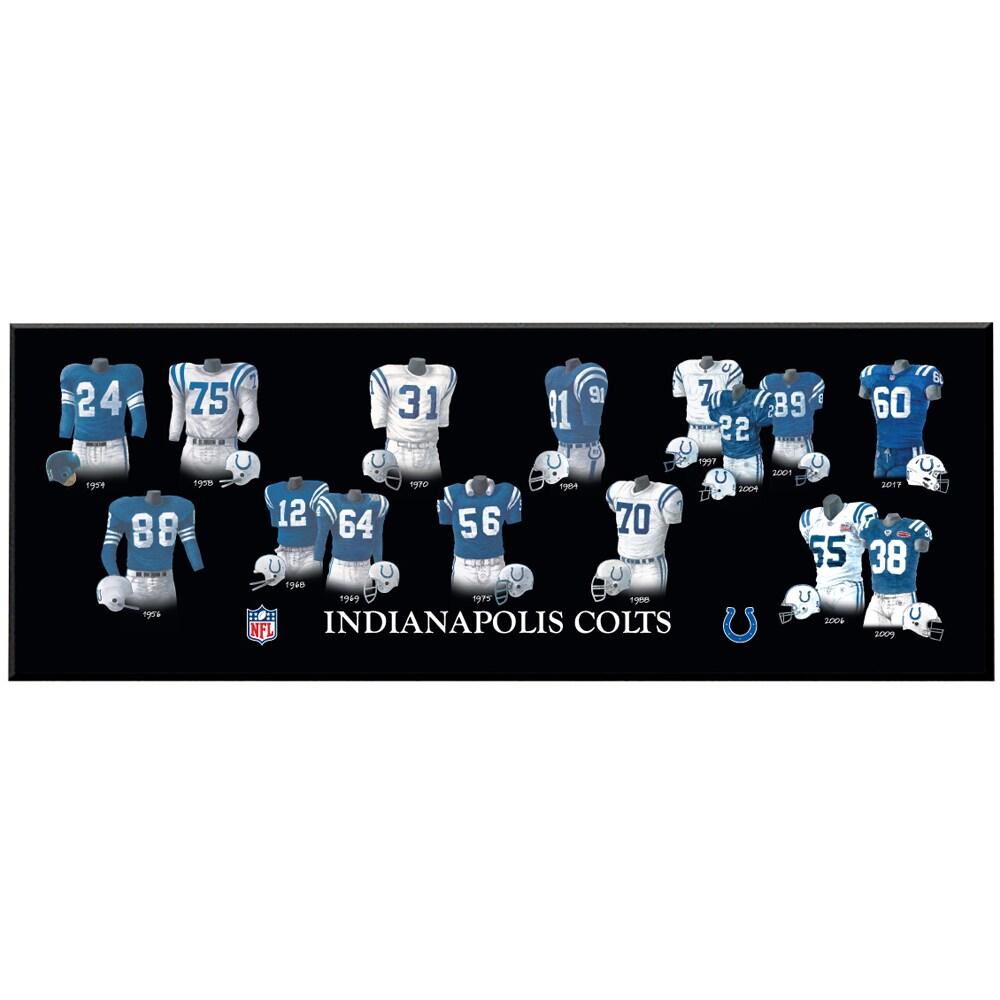 Indianapolis Colts 8'' x 24'' Uniform Evolution Plaque