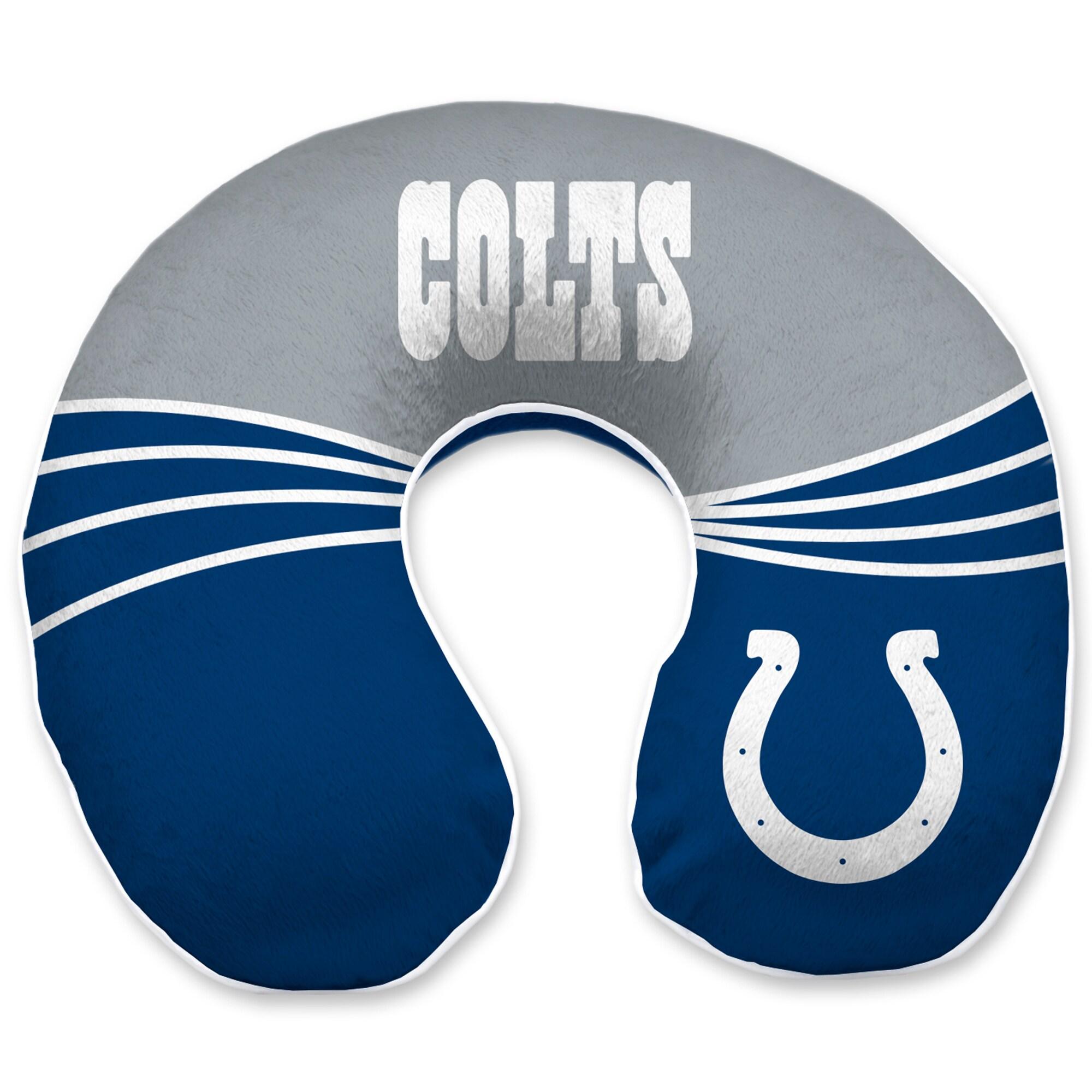 Indianapolis Colts Wave Memory Foam U-Neck Travel Pillow - Blue
