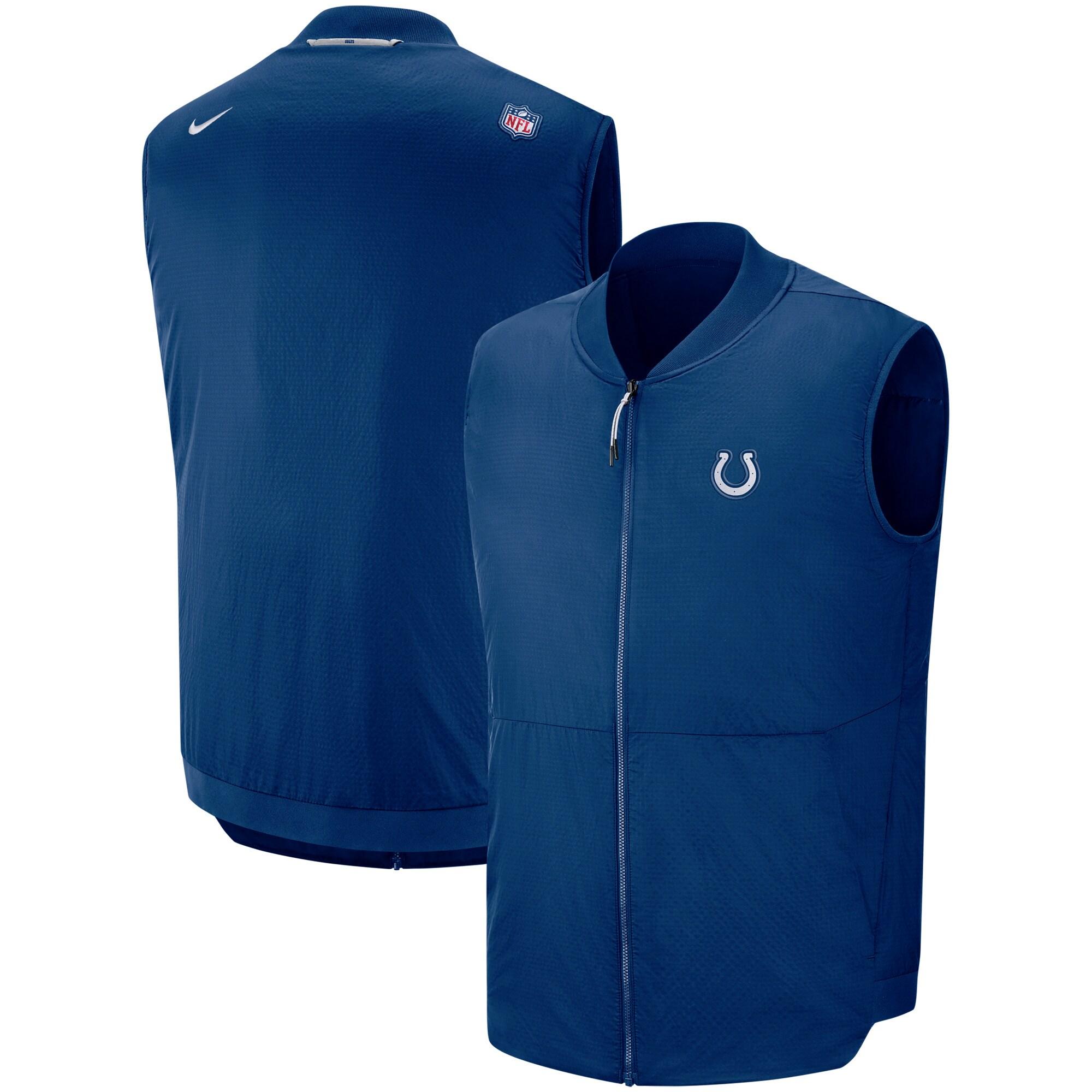 Indianapolis Colts Nike Sideline Full-Zip Vest - Royal