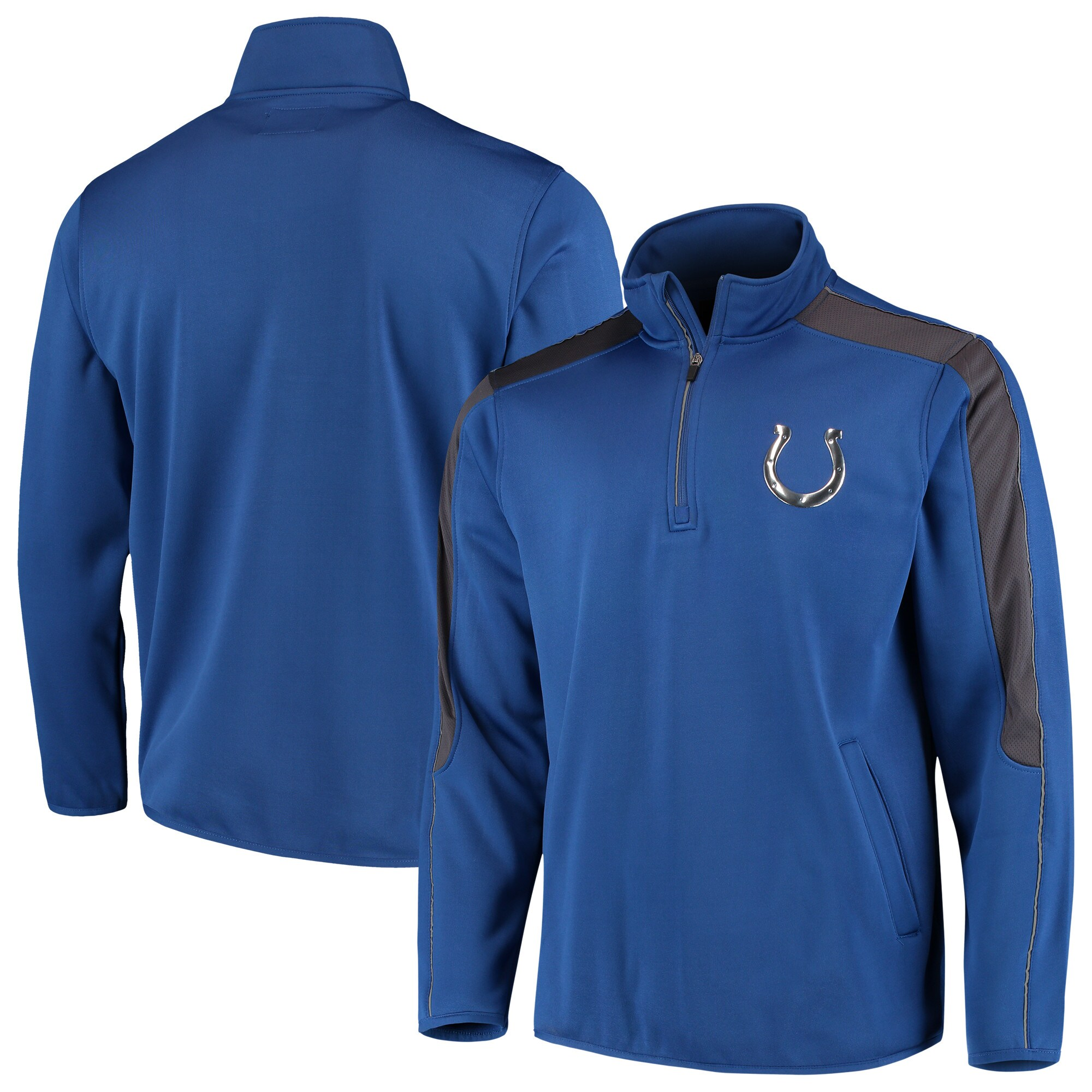 Indianapolis Colts G-III Sports by Carl Banks I Formation Quarter-Zip Pullover Jacket - Royal