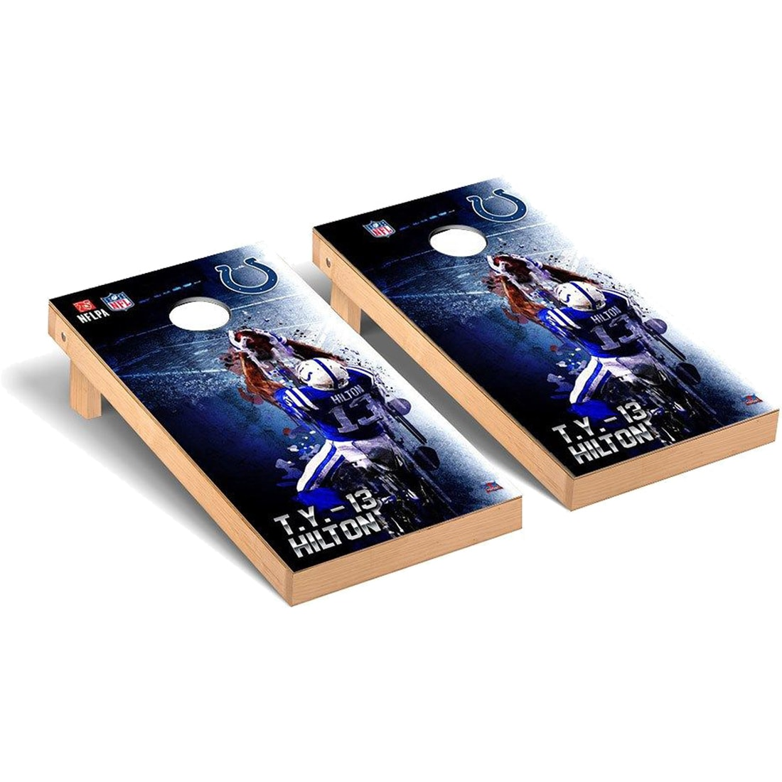 T.Y. Hilton Indianapolis Colts 2' x 4' NFLPA Player Cornhole Board Tailgate Toss Set