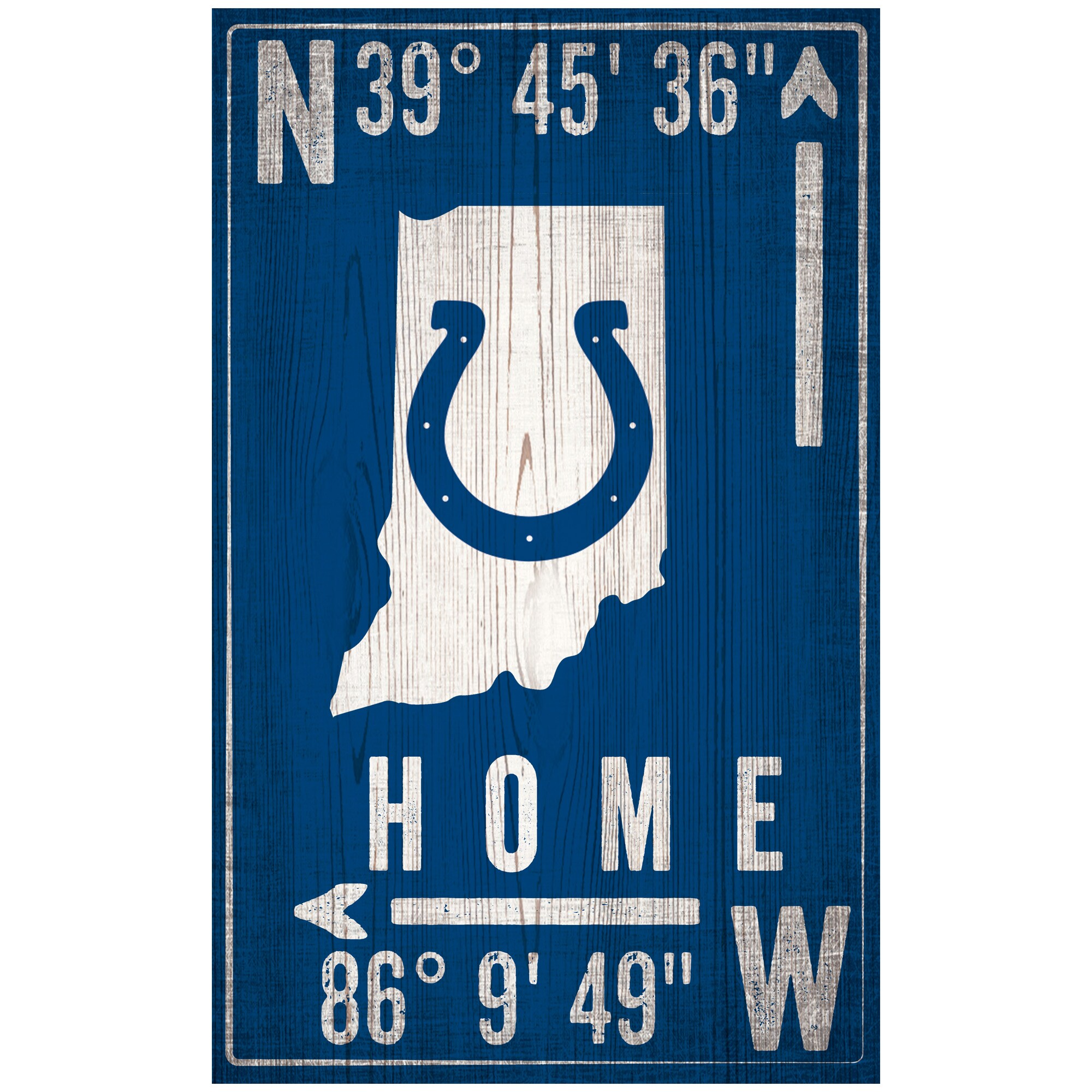 "Indianapolis Colts 11"" x 19"" Coordinate Sign"