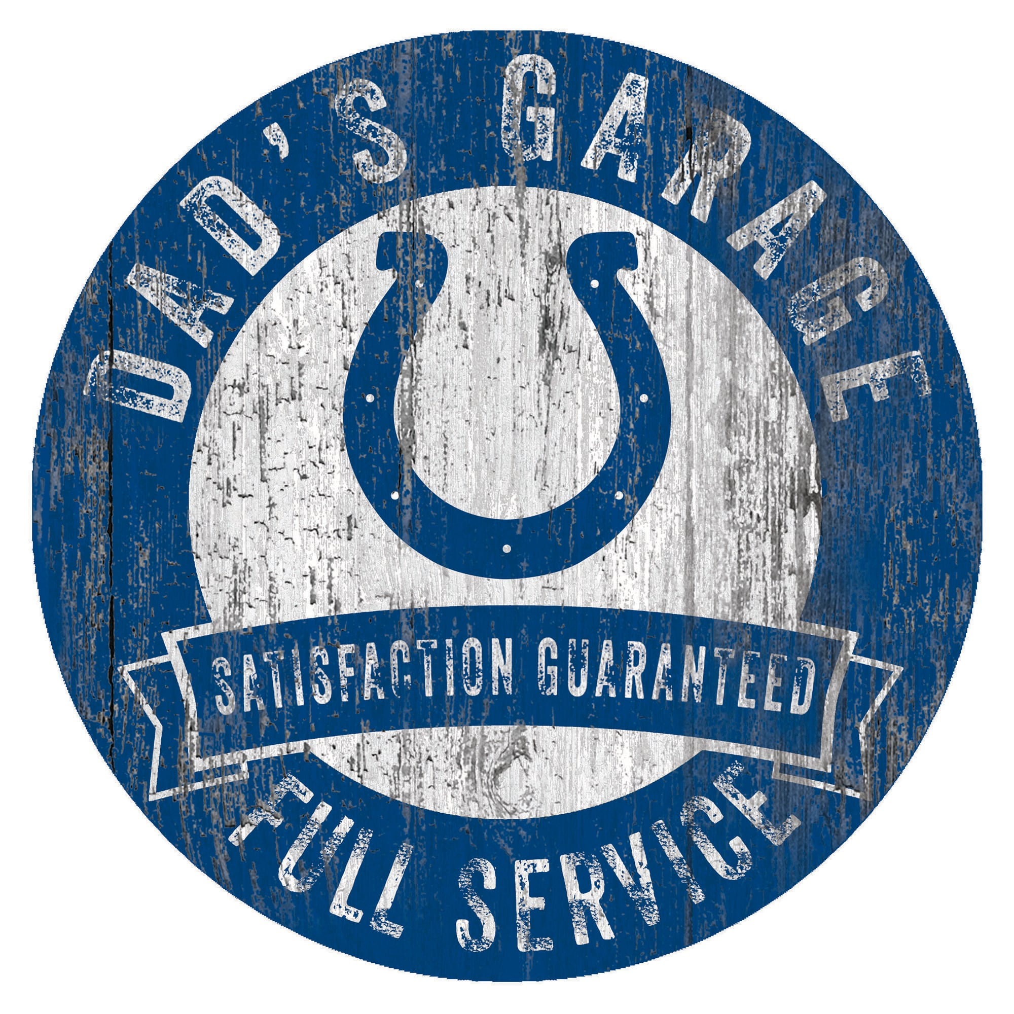 "Indianapolis Colts 12"" x 12"" Dad's Garage Sign"