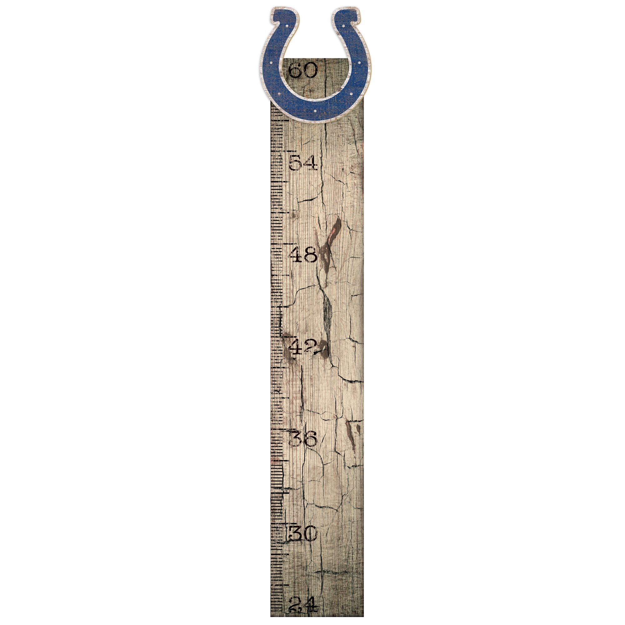 "Indianapolis Colts 6"" x 36"" Growth Chart Sign"