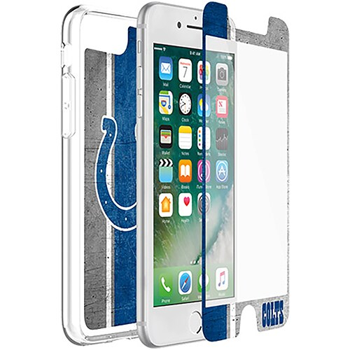 Indianapolis Colts OtterBox iPhone 8 Plus/7 Plus/6 Plus/6s Plus Symmetry Case with Alpha Glass Screen Protector