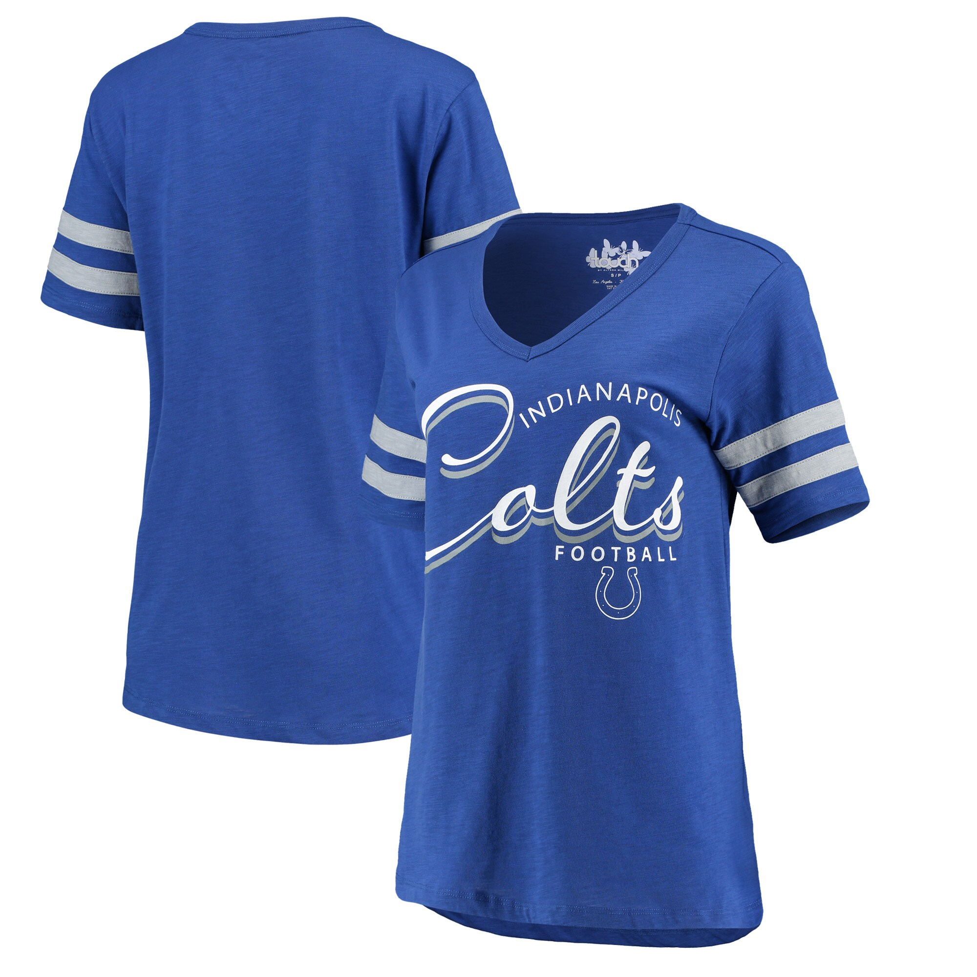 Indianapolis Colts Touch by Alyssa Milano Women's Triple Play V-Neck T-Shirt - Royal