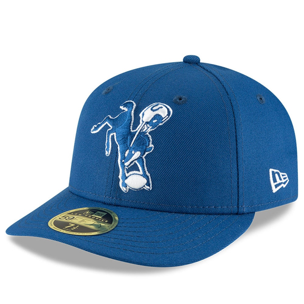 Indianapolis Colts New Era Omaha Throwback Low Profile 59FIFTY Fitted Hat - Royal
