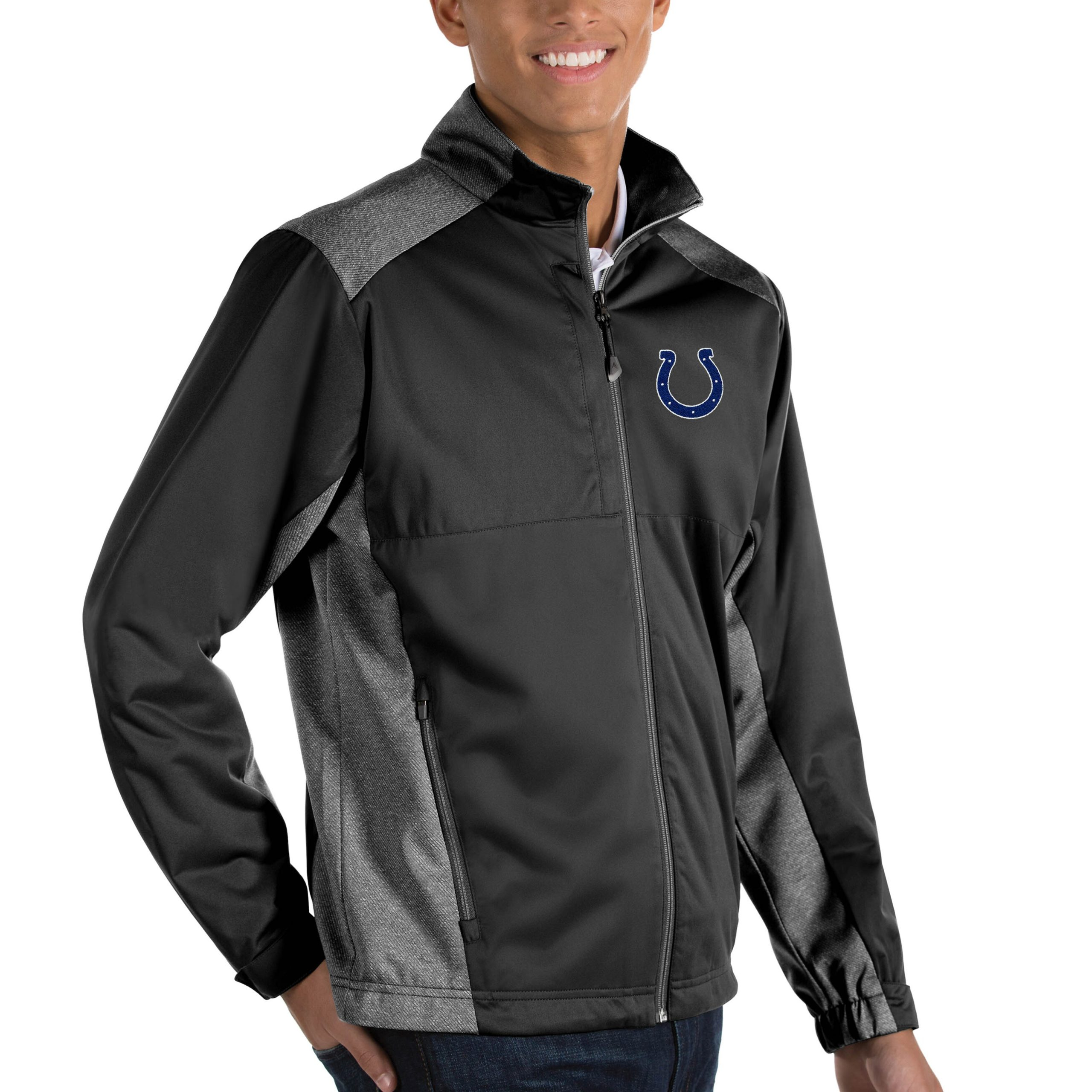 Indianapolis Colts Antigua Revolve Big & Tall Full-Zip Jacket - Heather Black