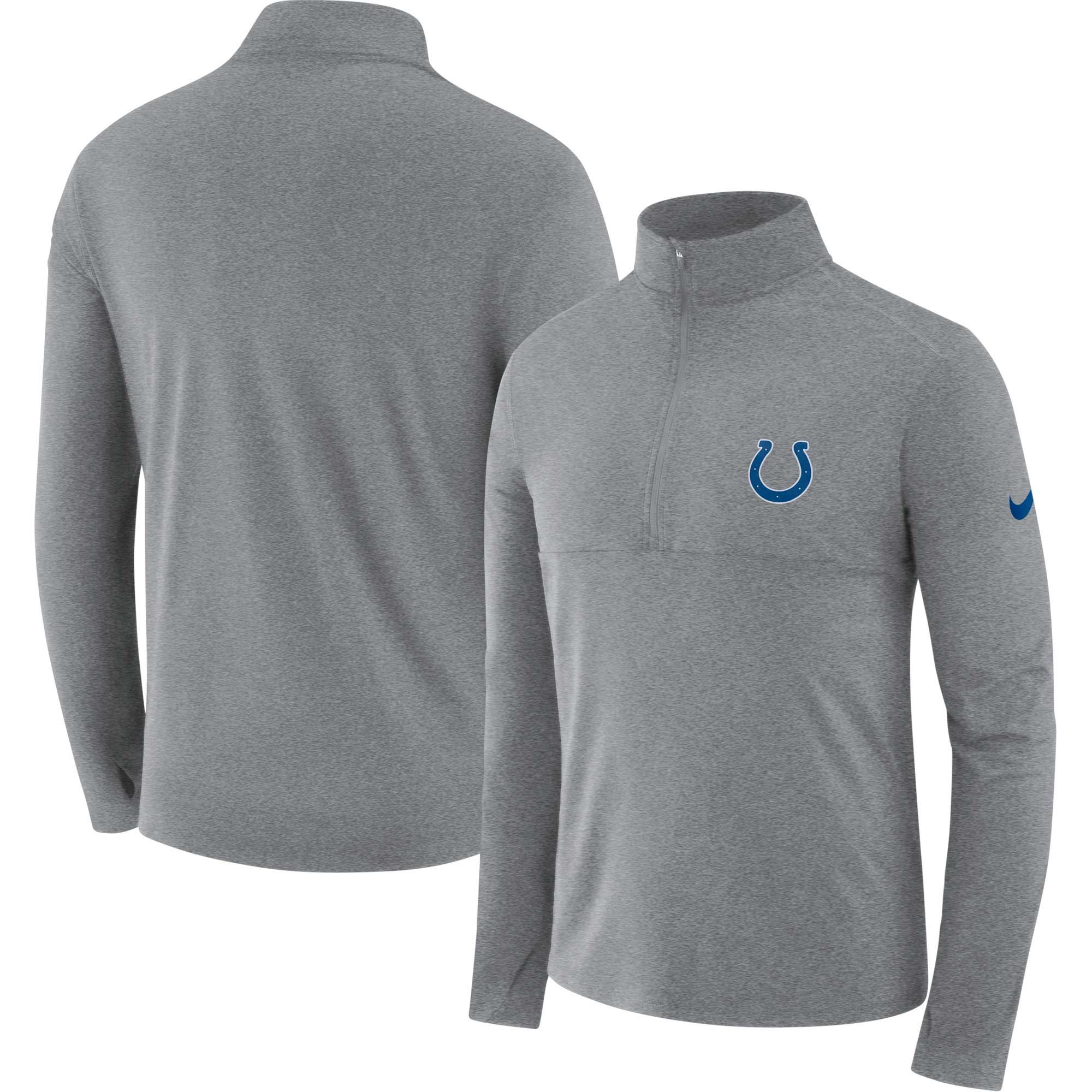 Indianapolis Colts Nike Fan Gear Element Half-Zip Performance Jacket - Heathered Gray