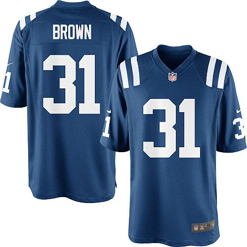 Donald Brown Indianapolis Colts Nike Youth Team Color Game Jersey - Royal Blue
