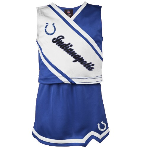 Indianapolis Colts Girls Youth 2-Piece Cheerleader Set - Royal Blue