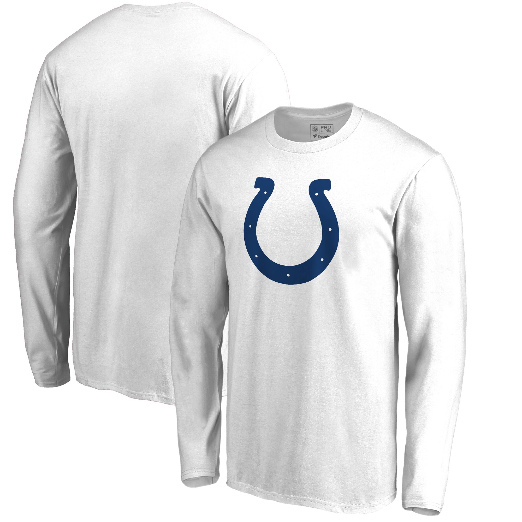 Indianapolis Colts NFL Pro Line by Fanatics Branded Primary Logo Big & Tall Long-Sleeve T-Shirt - White