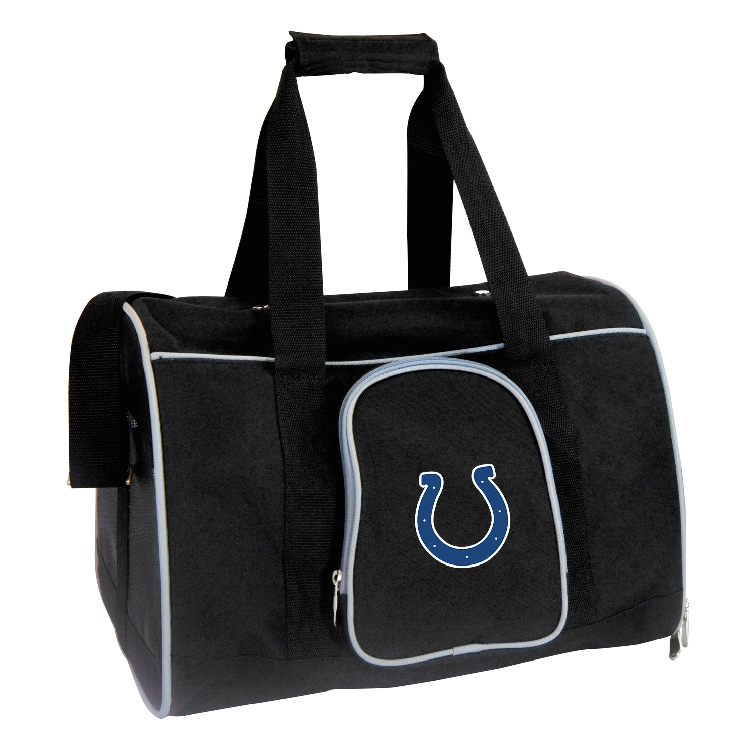 """Indianapolis Colts Small 16"""" Pet Carrier - Black"""