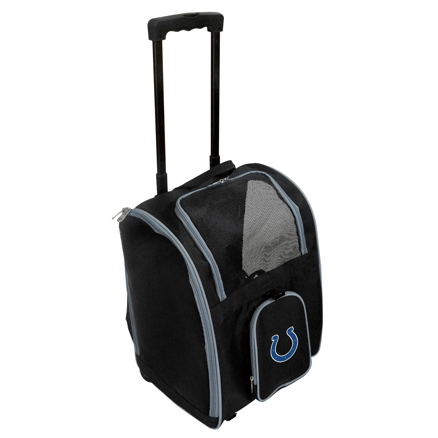 Indianapolis Colts 2-Wheeled Roller Pet Carrier - Black