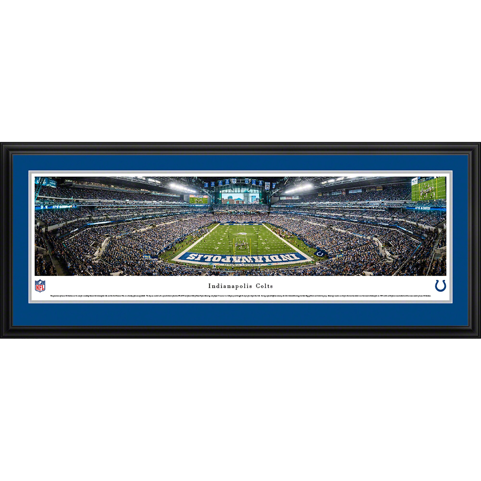 "Indianapolis Colts 44"" x 18"" 50-Yard Line Deluxe Framed Panoramic"