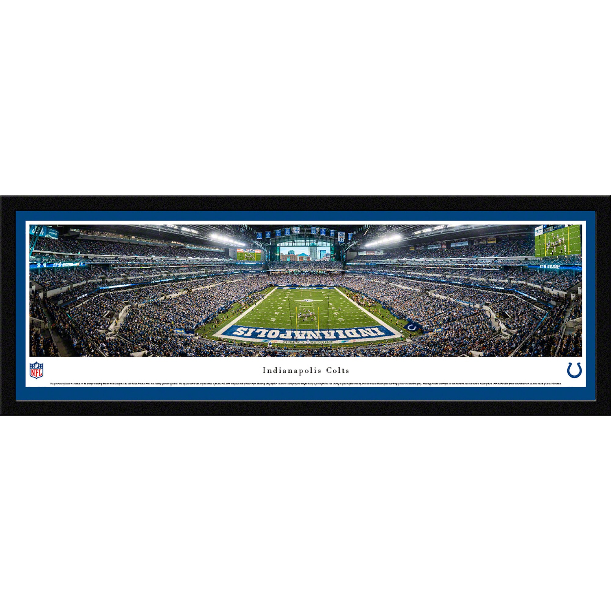 "Indianapolis Colts 42"" x 15.5"" Endzone Select Framed Panoramic"